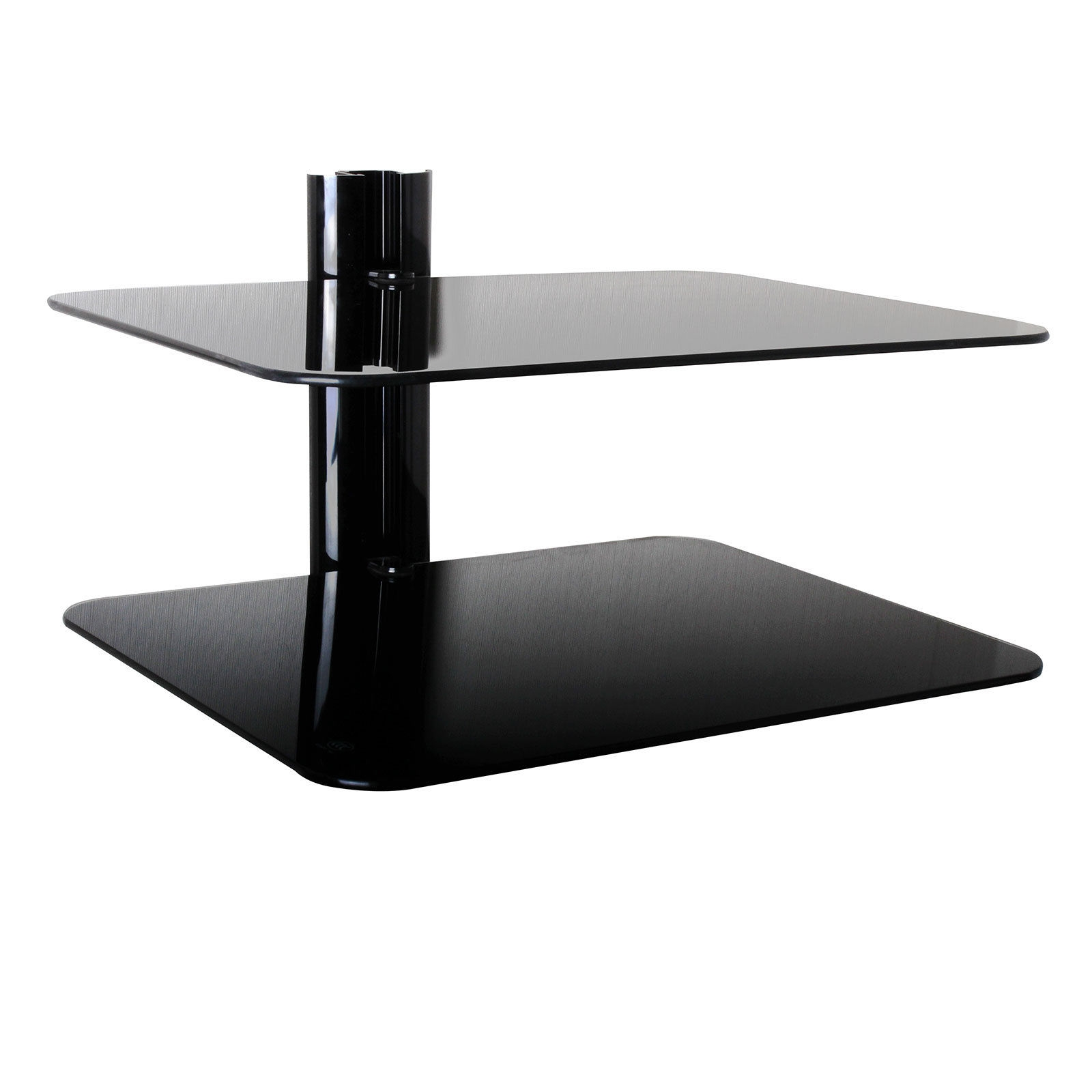 Featured Image of Wall Mounted Black Glass Shelves