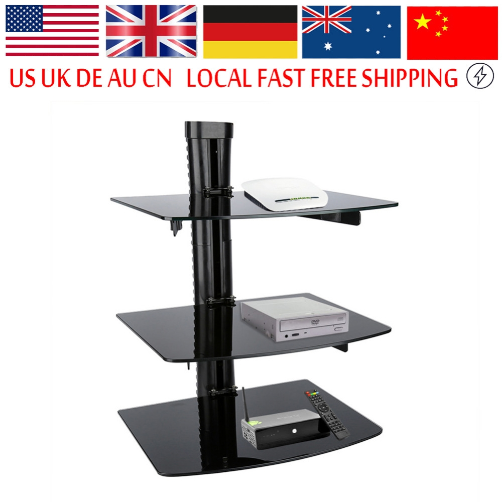 Triple Glass Shelf Promotion Shop For Promotional Triple Glass Regarding Floating Black Glass Shelf (View 9 of 15)