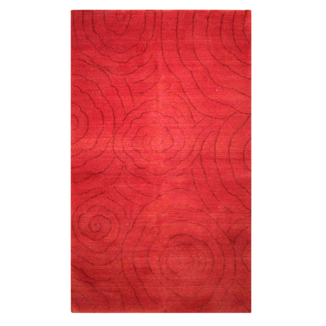 Tufenkian Modern Red Wool And Silk Rug 7313 Andonian Rugs Regarding Red Wool Rugs (Image 15 of 15)