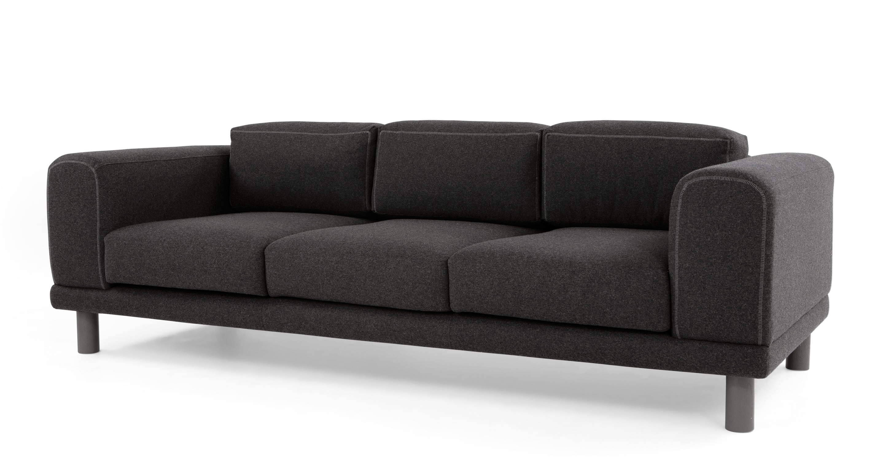 Turin 3 Seater Sofa Kestrel Grey Made For Three Seater Sofas (Image 15 of 15)