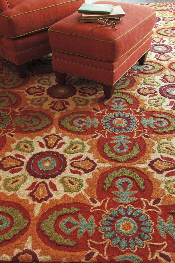 Turquoise And Orange Area Rug Rugs Pinterest Rugs Orange For Orange Floor Rugs (View 7 of 15)