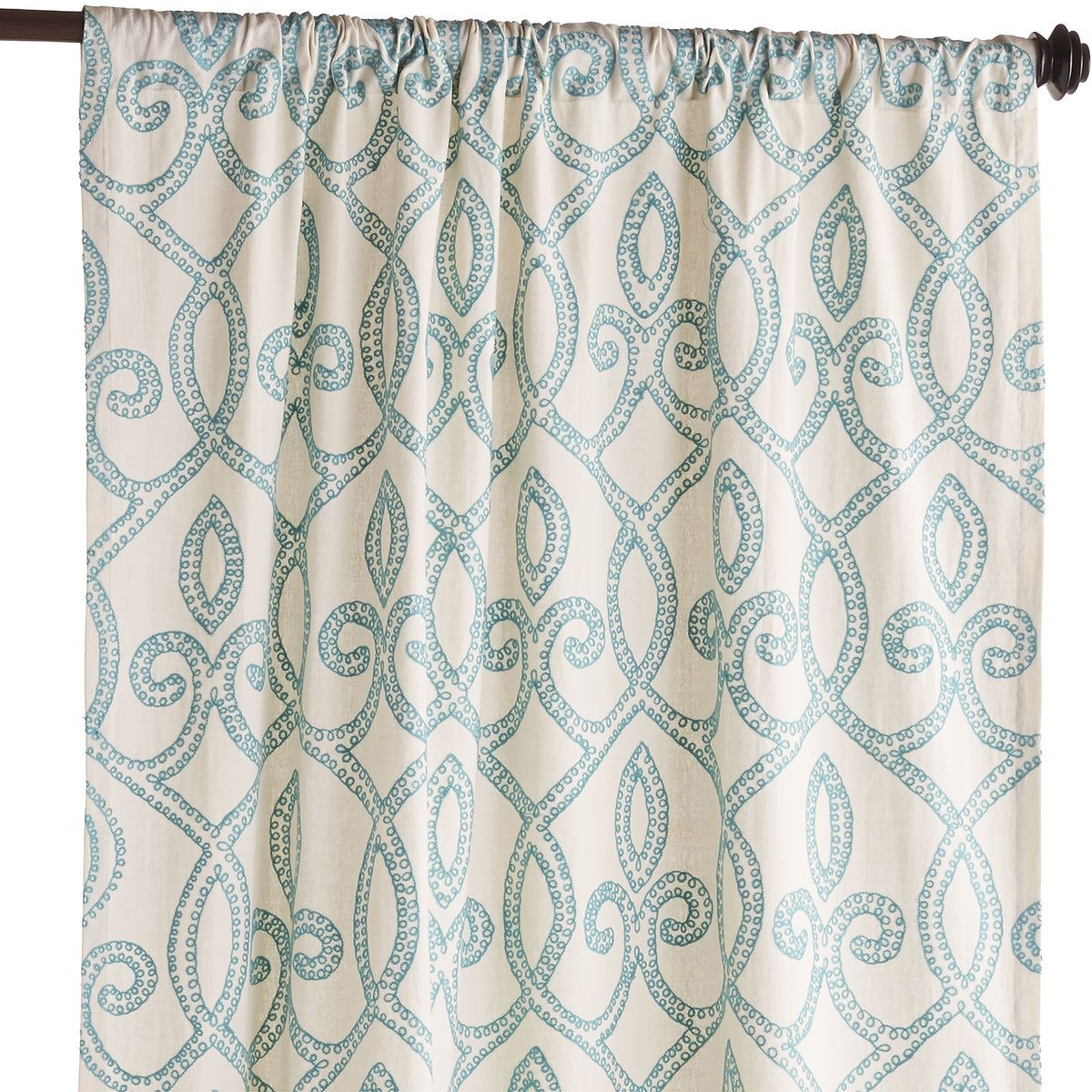 Turquoise Trellis Curtains Inside Turquoise Trellis Curtains (View 4 of 25)