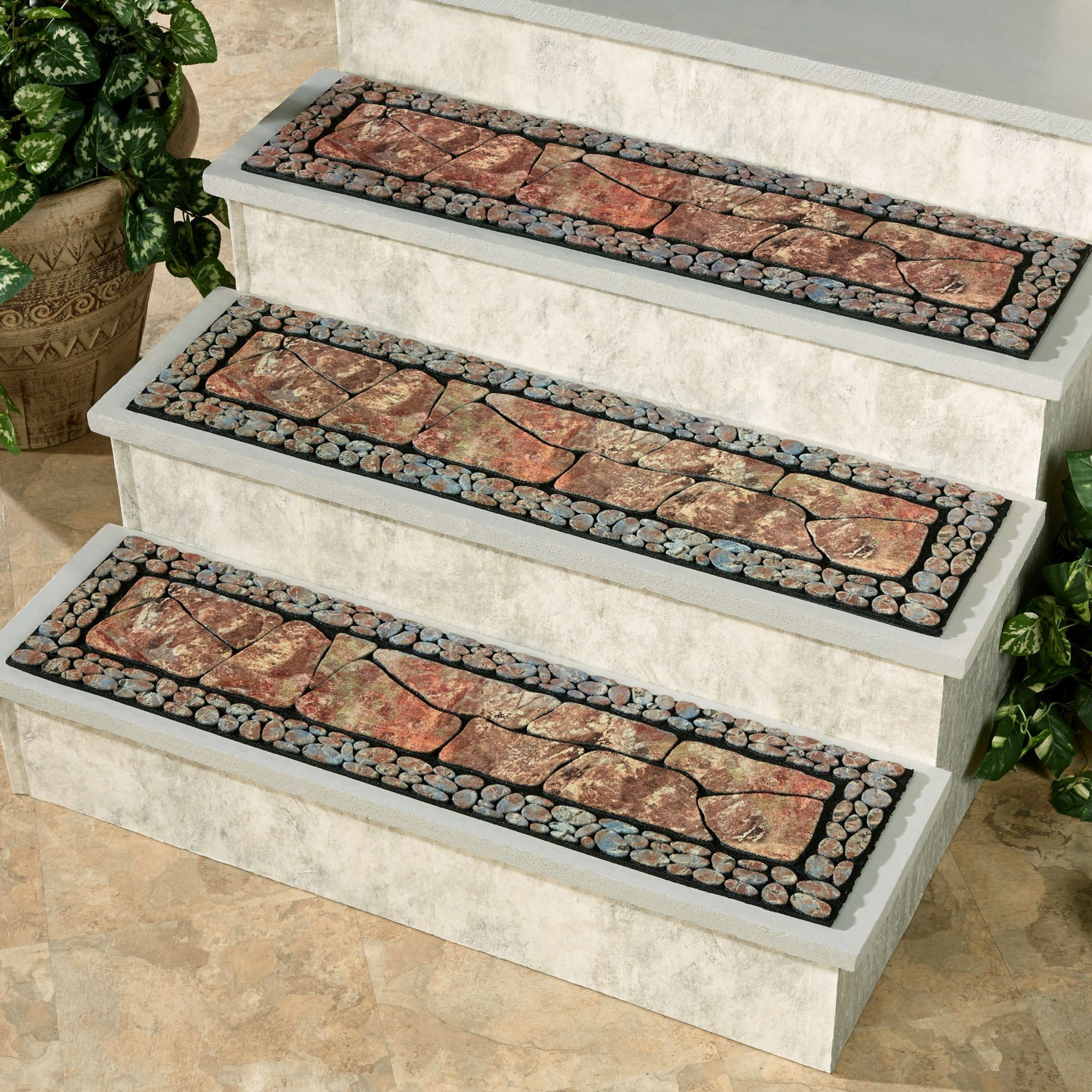 Tuscany Ii Moss Outdoor Stair Treads Pertaining To Stair Tread Rugs Outdoor (Image 15 of 15)