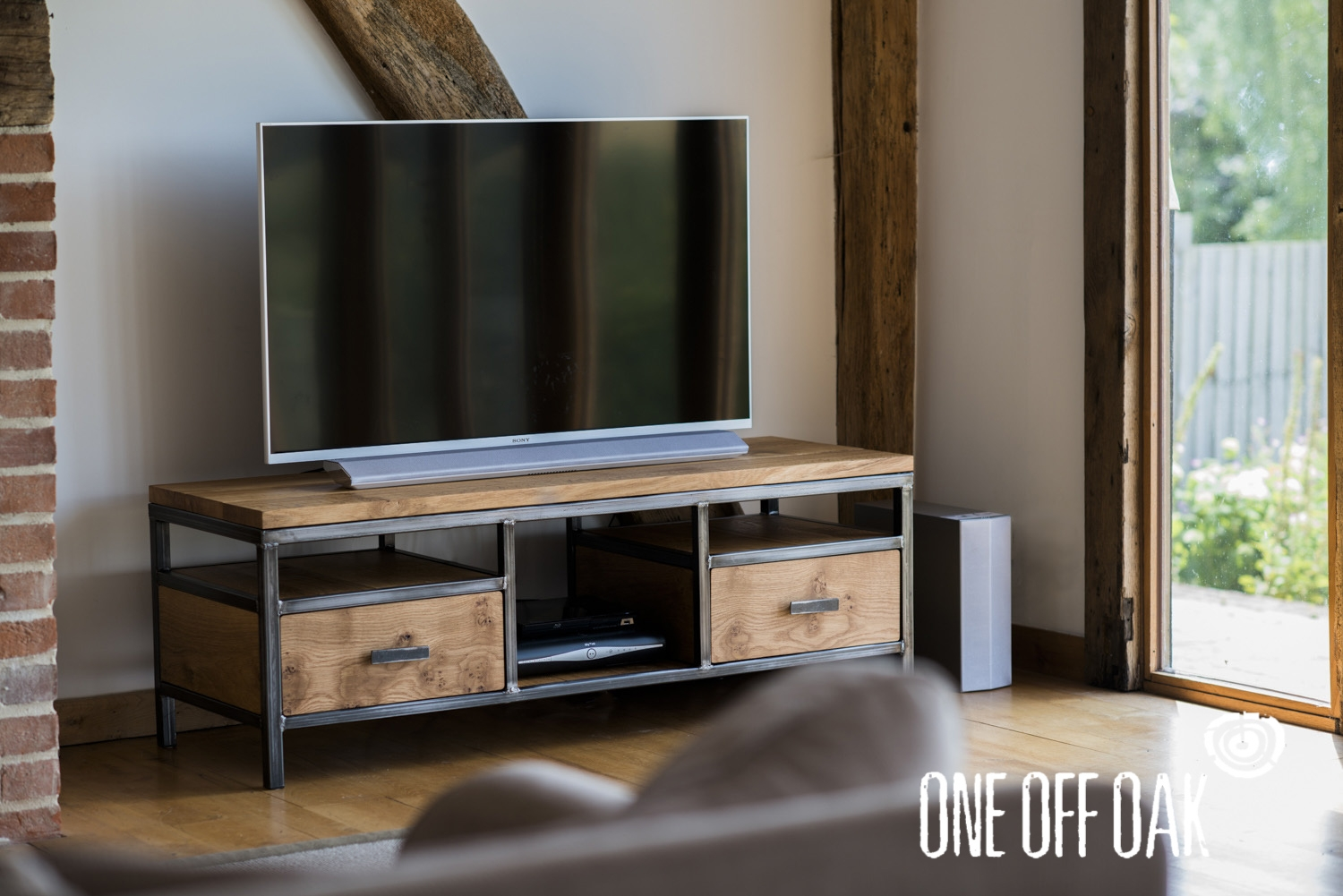 Tv Cabinet Bespoke Handmade Furniture From English Oak Pertaining To Bespoke Tv Cabinets (Image 15 of 15)