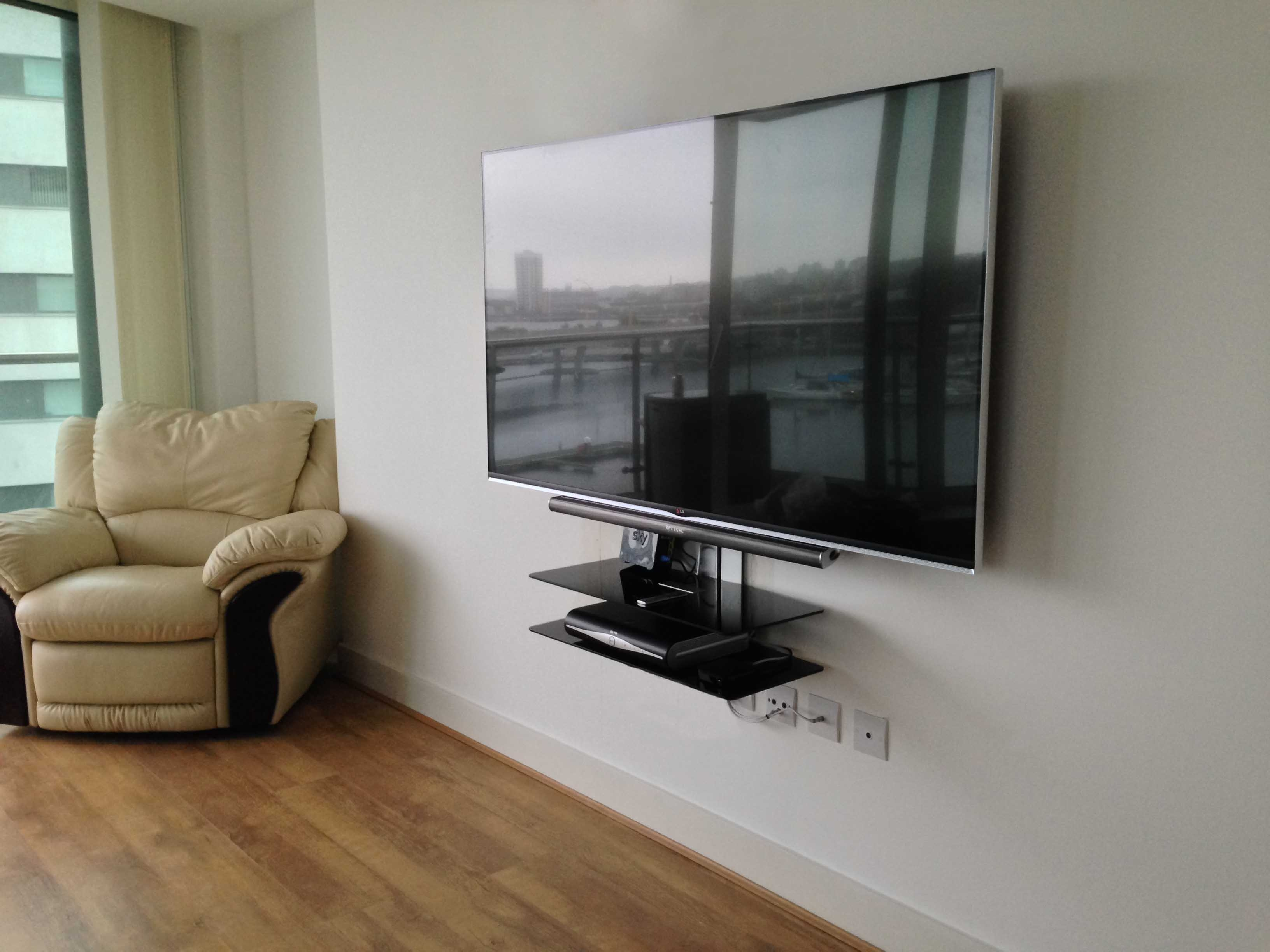 Tv Gallery Master Av Services Regarding Shelves On Plasterboard (View 11 of 15)