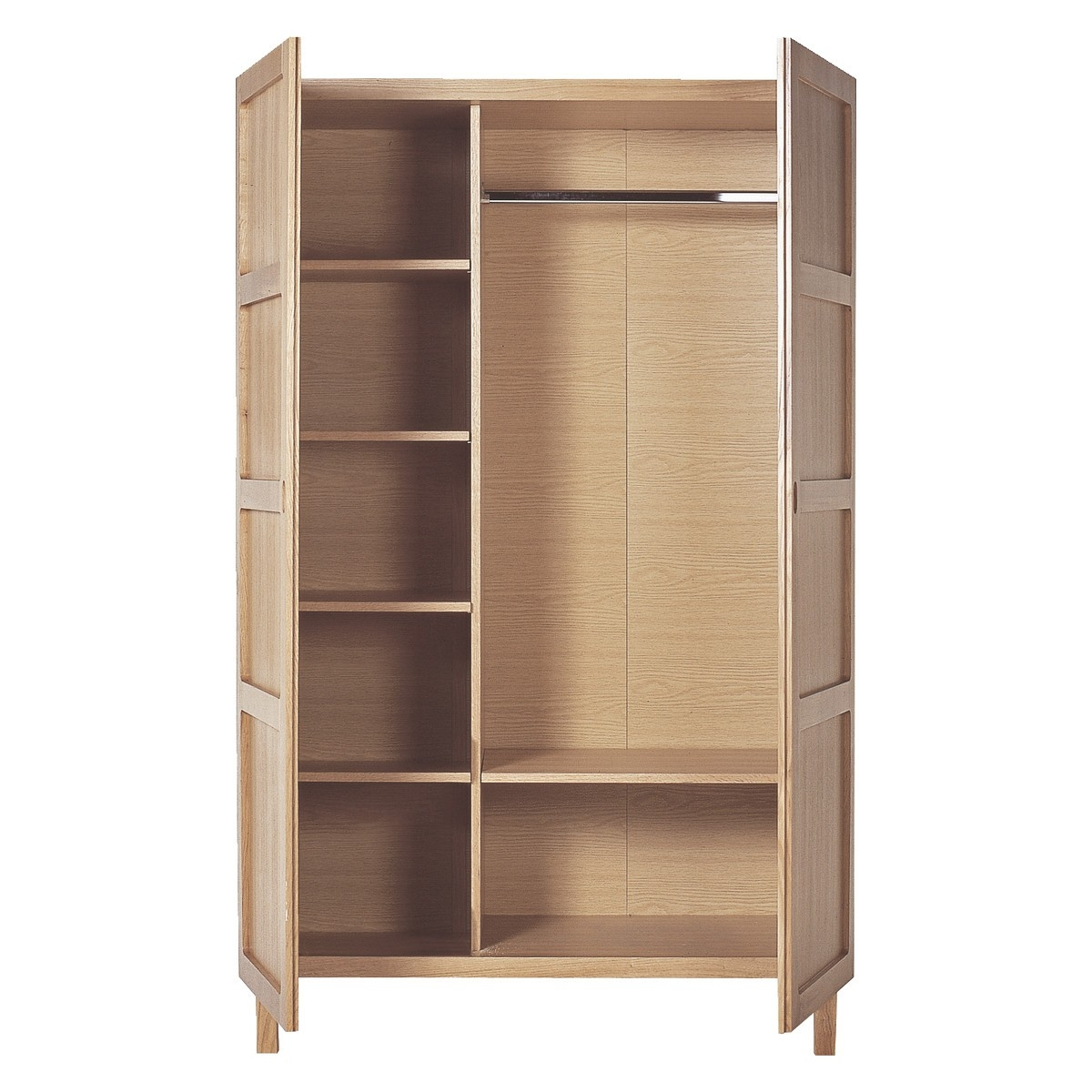 Two Door Wardrobe With Shelves Hallway Furniture Ideas Pertaining To Wardrobes With Shelves (Image 11 of 15)