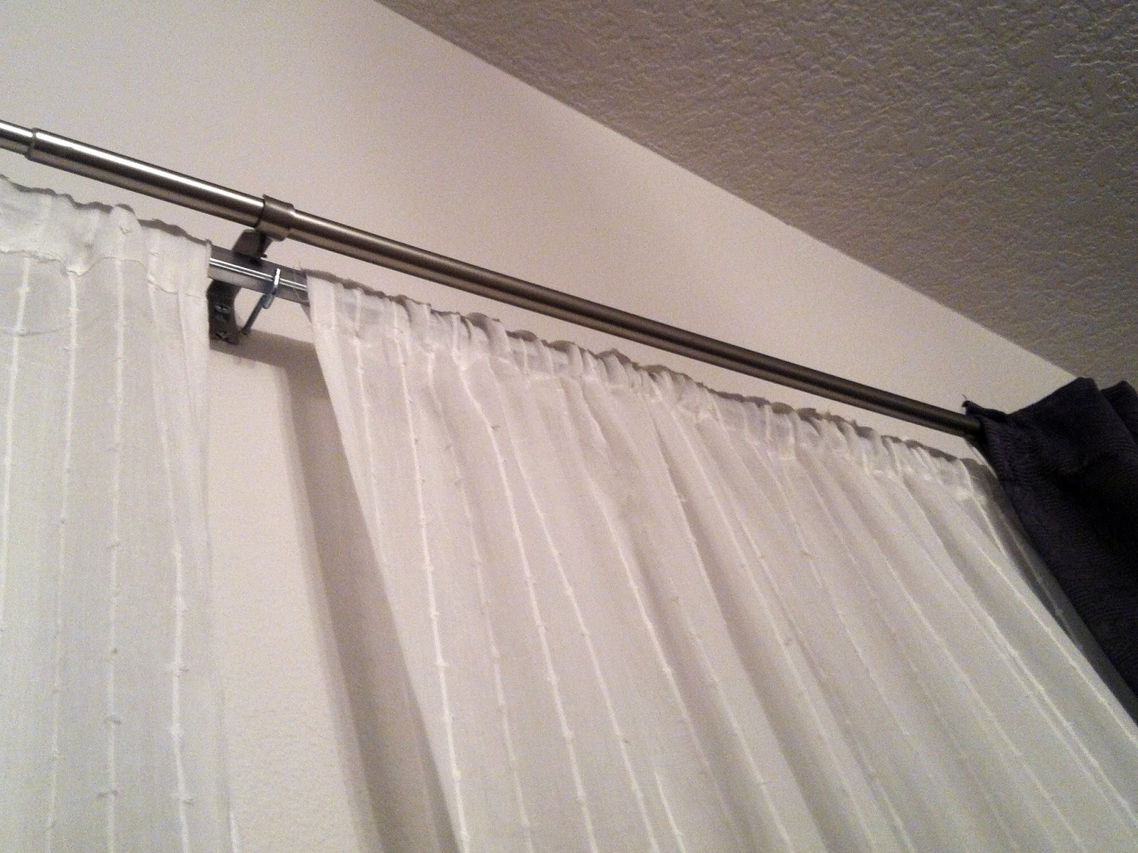 Two Pairs Of Diy Curtains For My Dining Room Plus A Diy Double For Extra Long Outdoor Curtain Rods (Image 19 of 25)