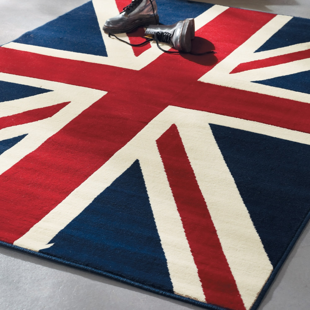 Union Jack Rug 140×200 Maisons Du Monde Intended For Union Jack Rugs (Photo 9 of 15)