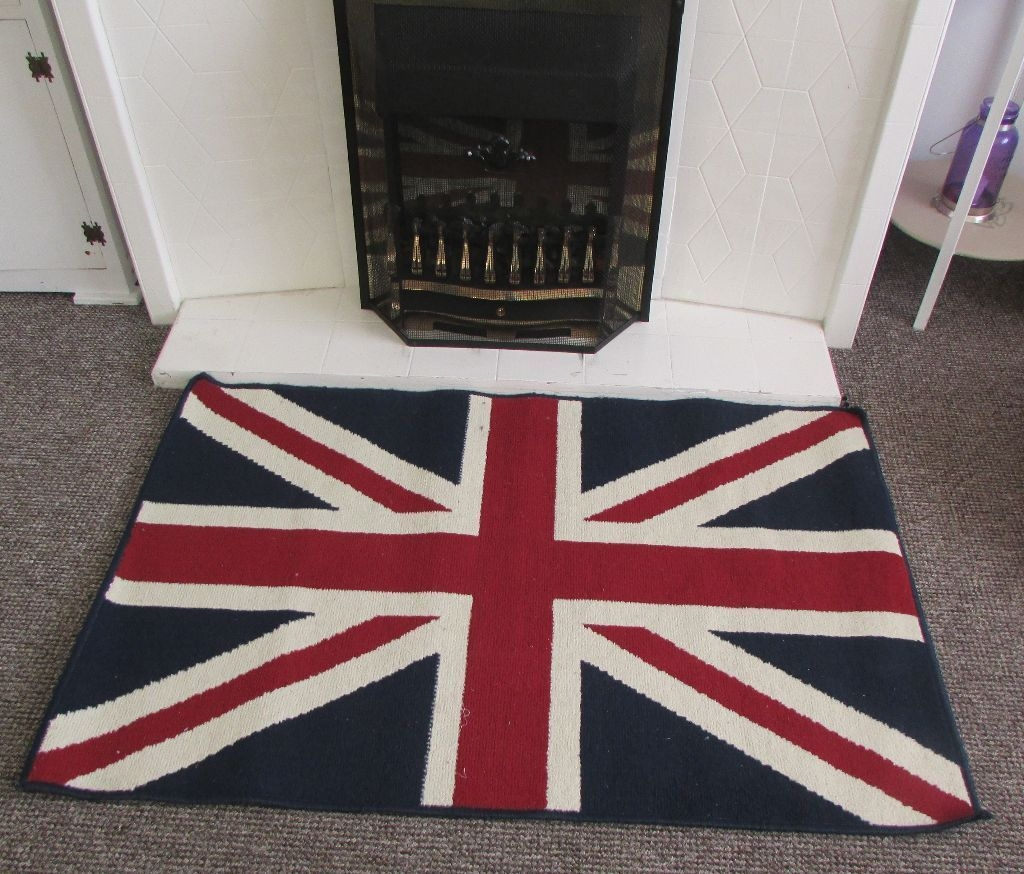 Union Jack Rug Sitting Hallbedroom Kitchen Fireplace Rug Carpet For Union Jack Rugs (Photo 15 of 15)