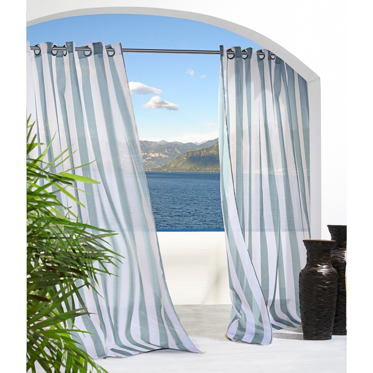 Unique Curtains Fresh Idea To Design Your Outdoor Curtain Rods Regarding Extra Long Outdoor Curtain Rods (Image 23 of 25)