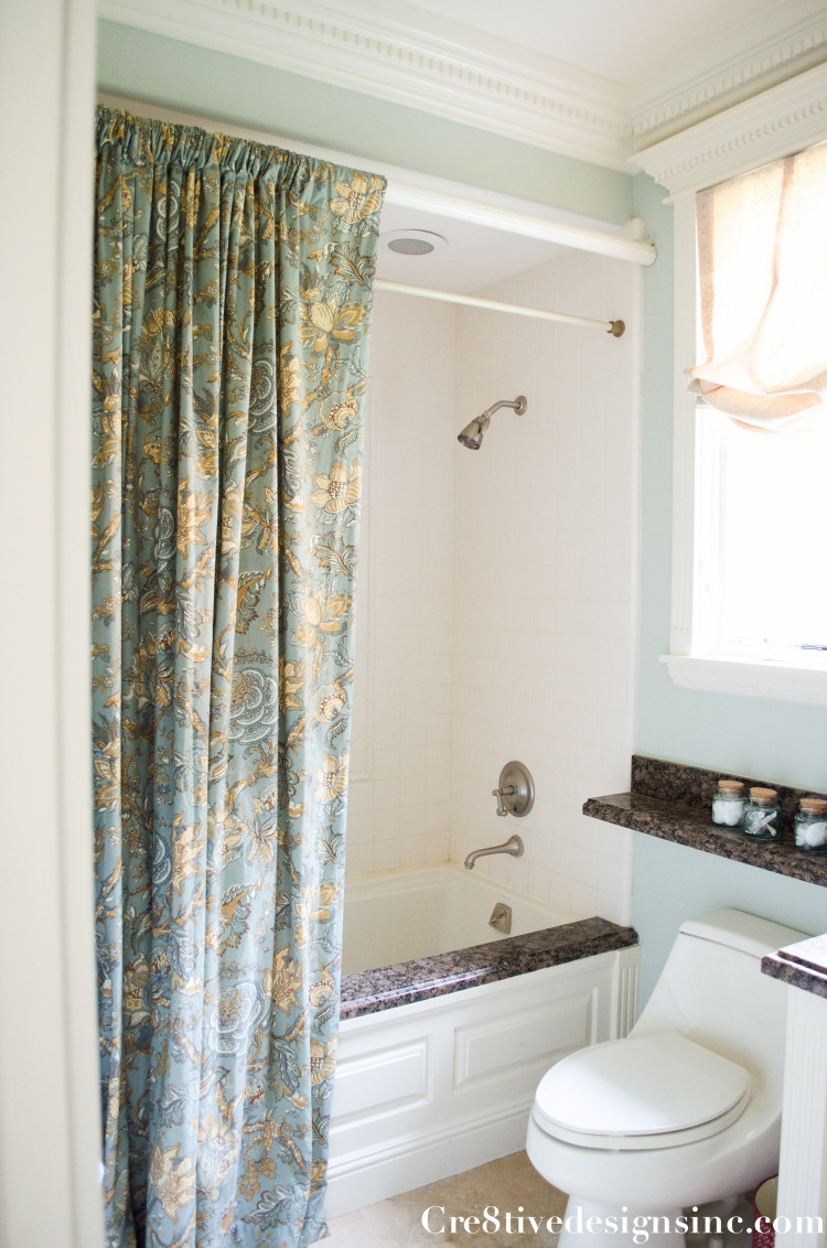 Using Ready Made Drapes For A Shower Curtain Cre8tive Designs Inc In Double Panel Shower Curtains (View 6 of 25)