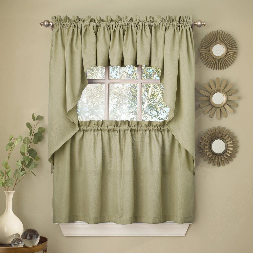 Valance Kitchen Curtains Kitchen Curtains And Valances Theme In Sage Green Kitchen Curtains (Image 25 of 25)