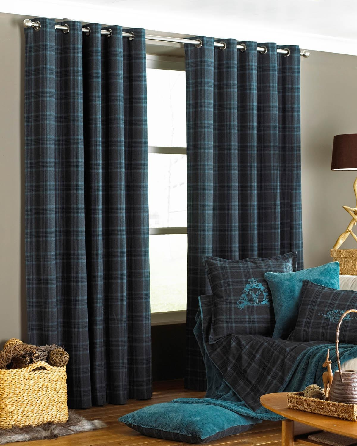 Verbier Ready Made Eyelet Curtains Teal Free Uk Delivery With Grey Eyelet Curtains (Image 23 of 25)