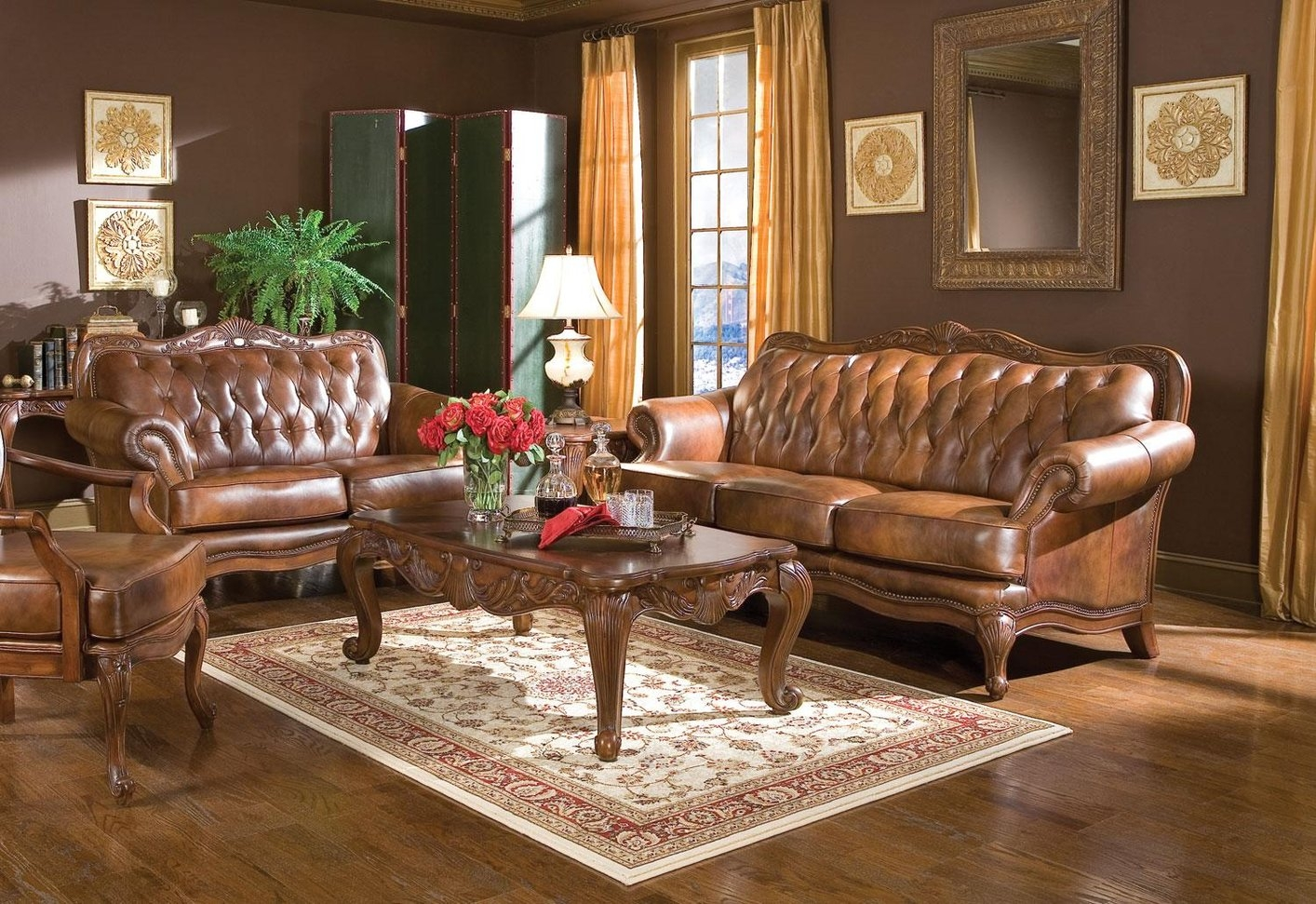 Victorian Leather Sofa Set Hereo Sofa Intended For Victorian Leather Sofas  (Image 14 Of 15