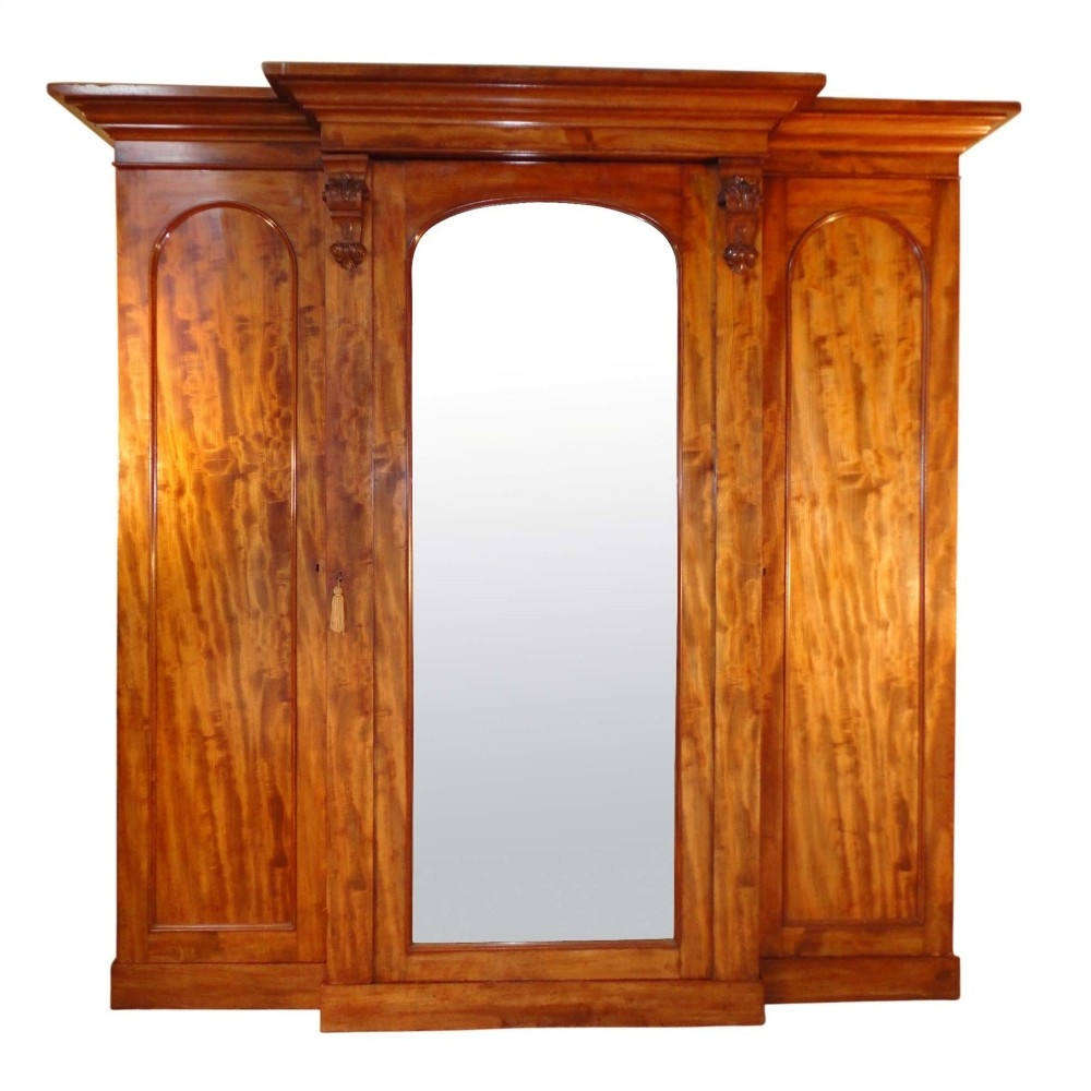 Victorian Mahogany Breakfront Wardrobe 241817 Sellingantiques Intended For Breakfront Wardrobe (Image 9 of 15)