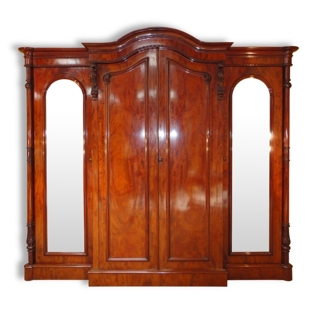 Victorian Mahogany Four Door Breakfront Wardrobe 284017 With Breakfront Wardrobe (Image 13 of 15)