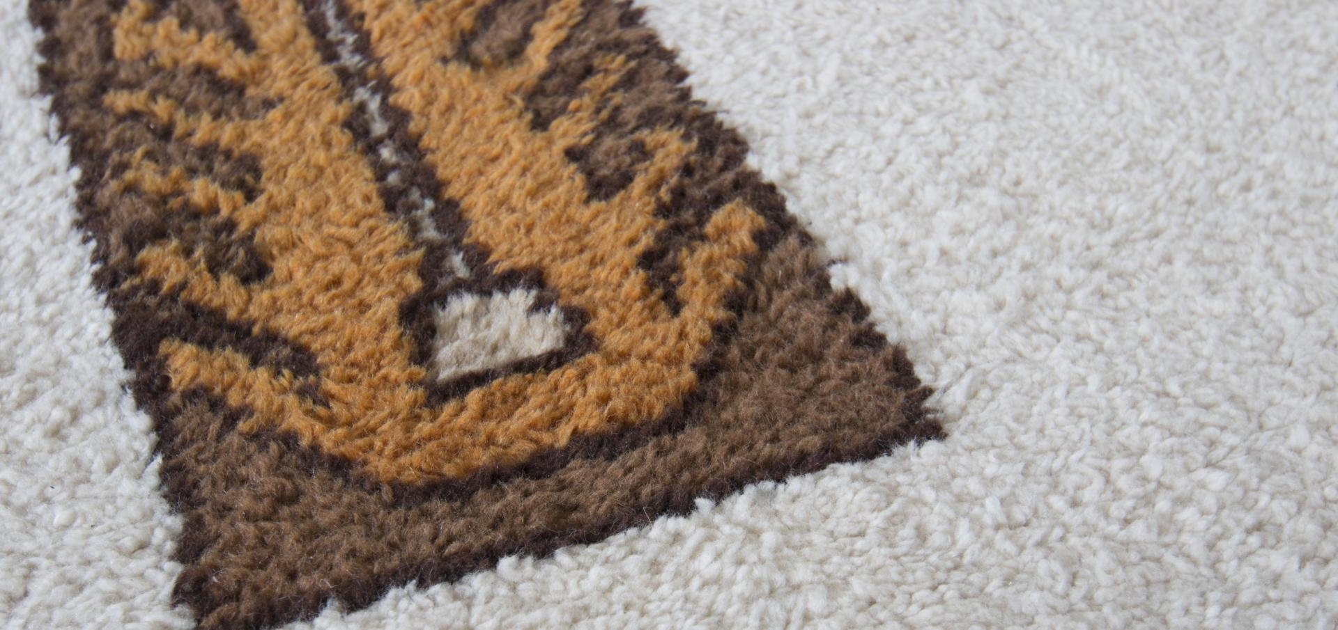 Vintage Cream Black And Brown Zig Zag Rug For Sale At Pamono Intended For Cream And Black Rugs (Image 15 of 15)