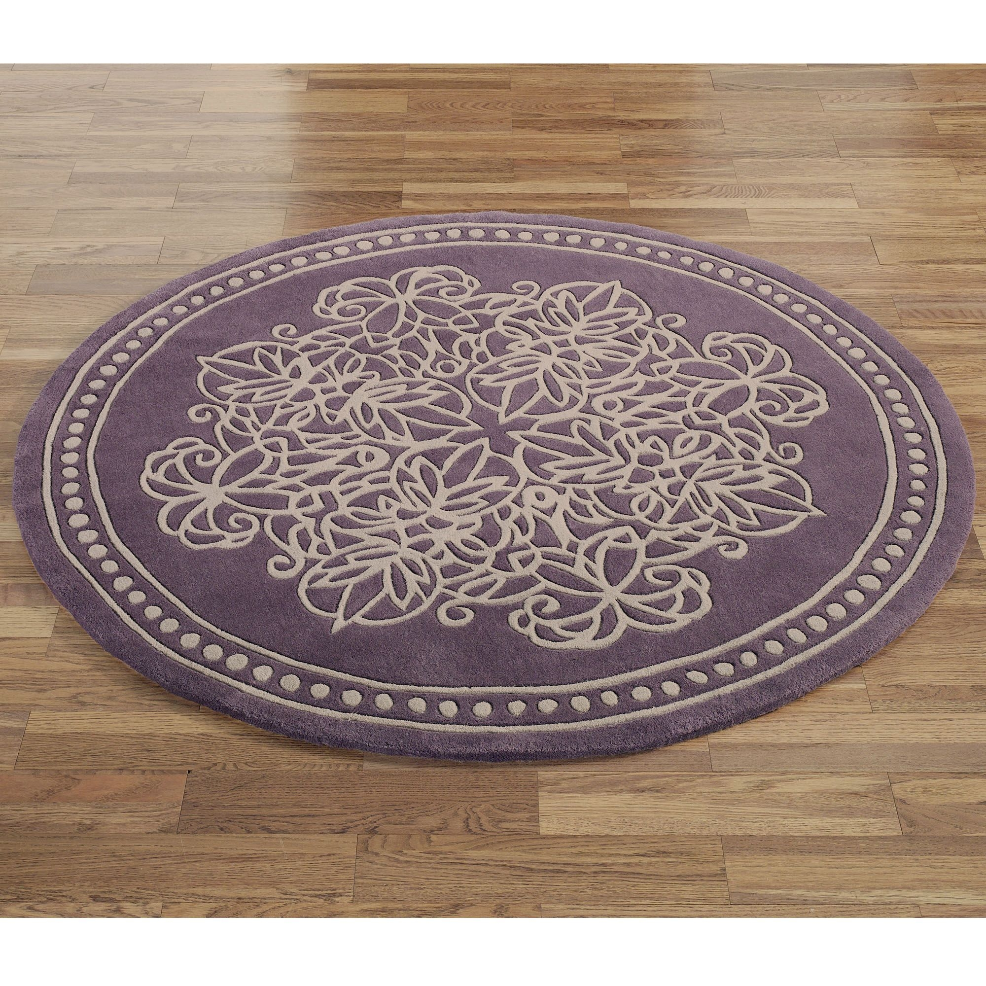 Vintage Lace Round Rugs Within Round Mats Rugs (Image 15 of 15)