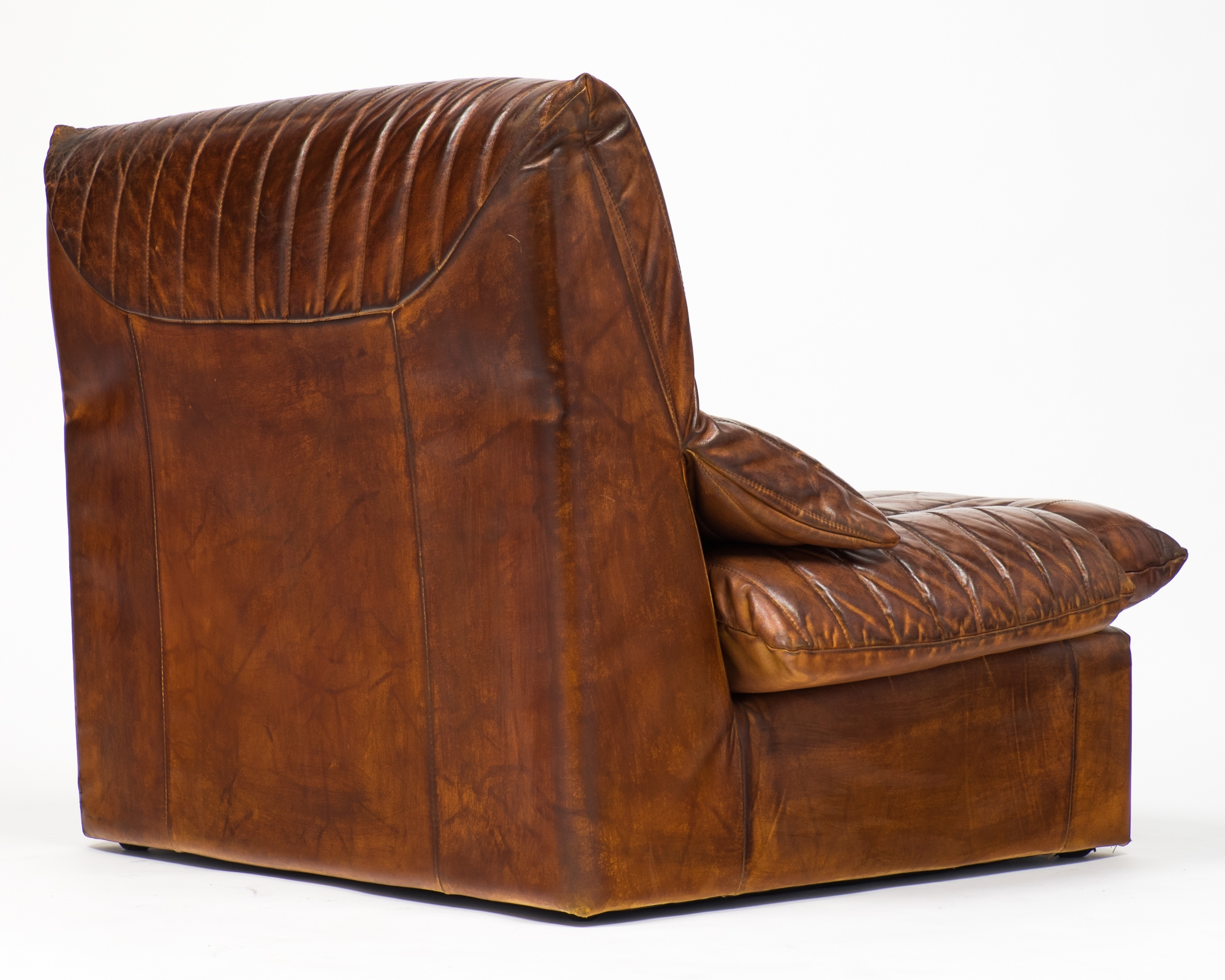 Vintage Roche Bobois Leather Armchairs Jean Marc Fray Within Vintage Leather Armchairs (Image 14 of 15)