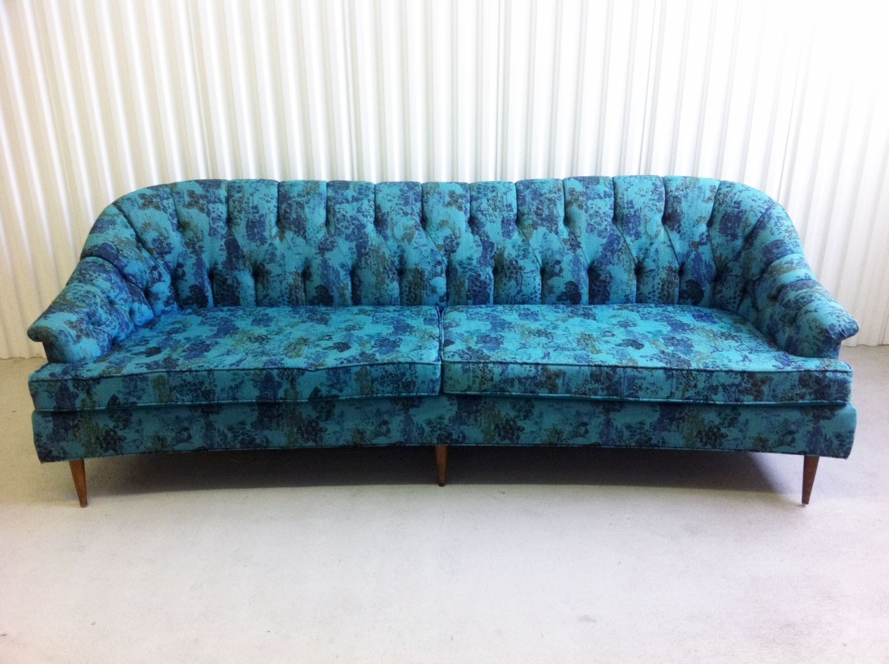 Vintage Sofa Turwoise April 13 Tricks Sleeper Reproductions With Regard To Retro Sofas For Sale (Image 15 of 15)