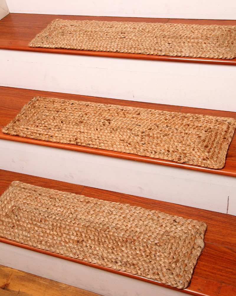 Vista Scroll Stair Treads Set Of 4 Nonslip Backing Keeps These With Regard To Braided Rug Stair Treads (Image 15 of 15)