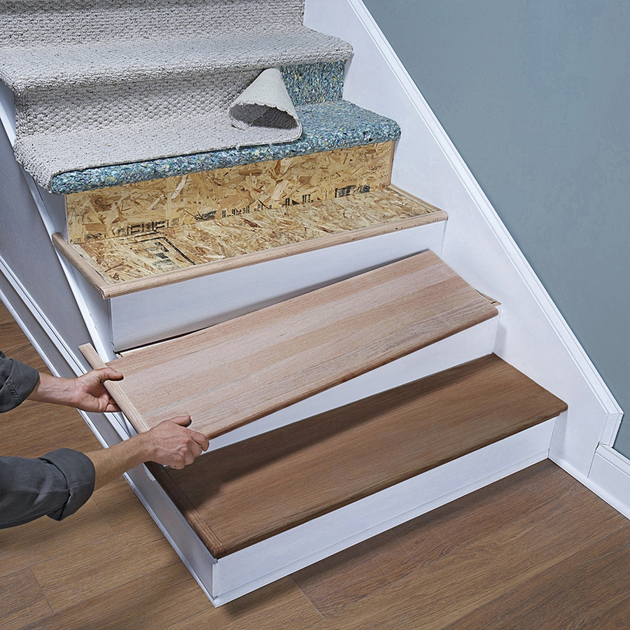 Vista Stair Treads Set Of 4 2998 All You Have To Do Is Lay With Regard To Fabric Stair Treads (Image 15 of 15)