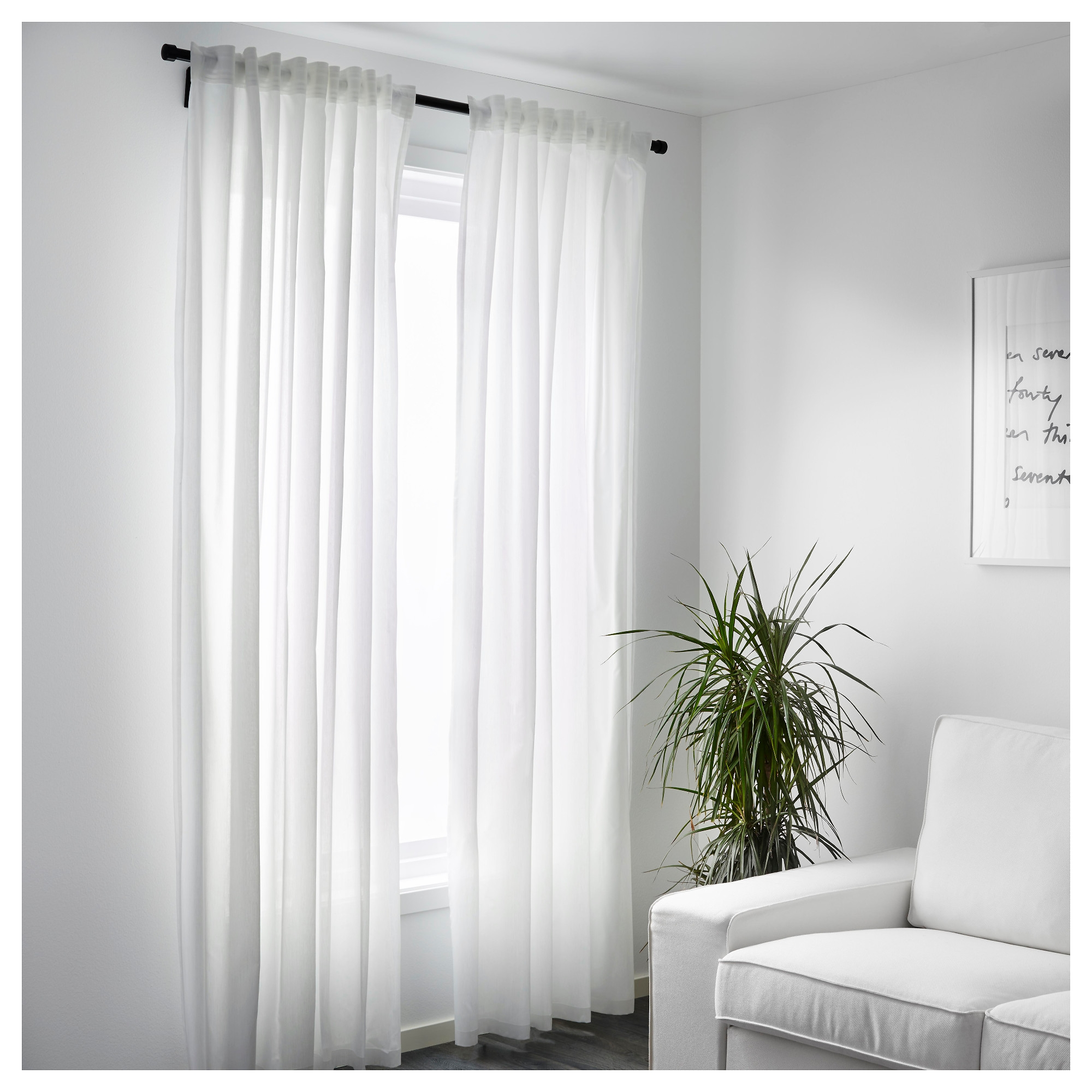 Vivan Curtains 1 Pair Ikea Within Sheer White Curtain Panels (Image 22 of 25)