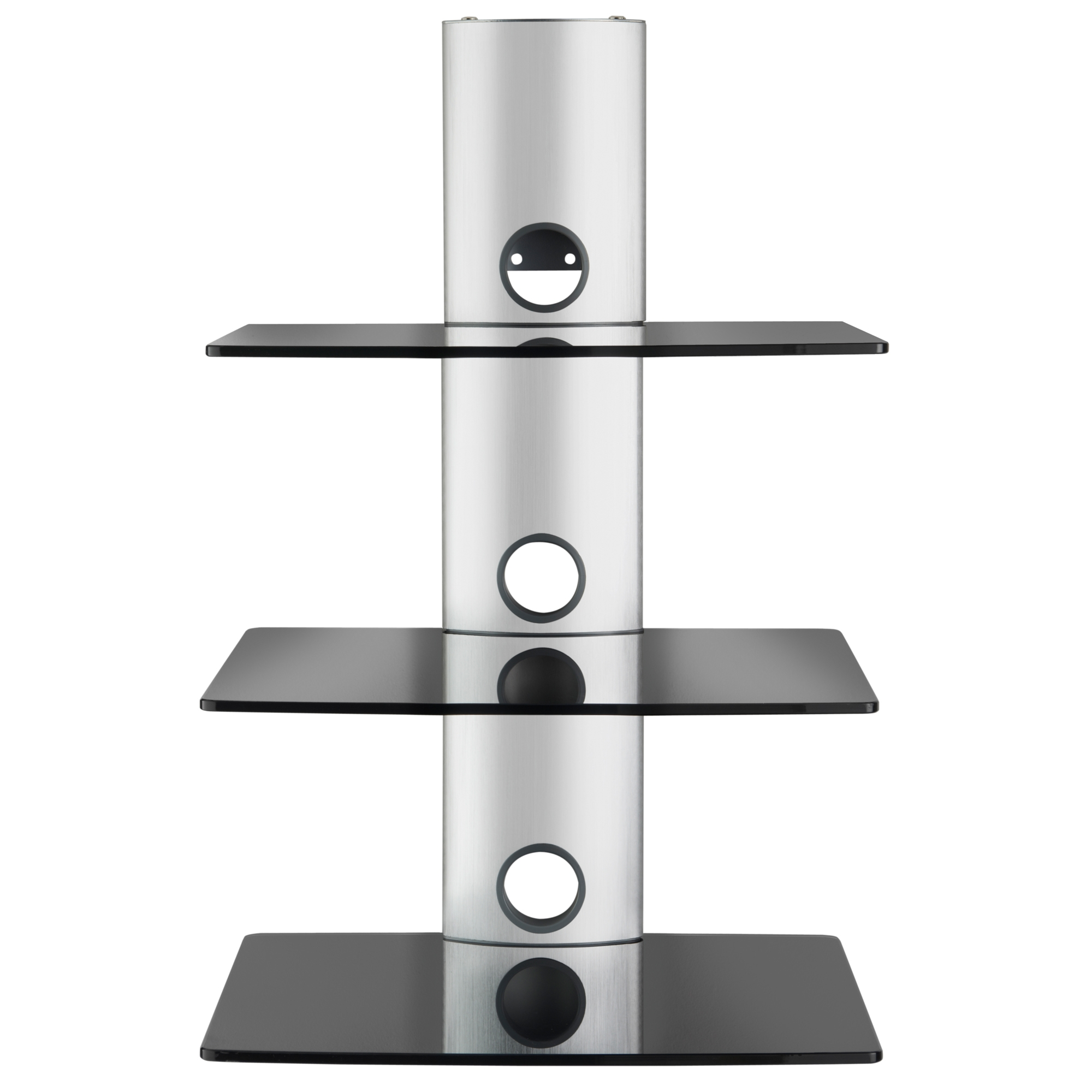 Vonhaus Floating Black Glass Shelves Wall Mount Bracket Sky Box For Floating Black Glass Shelves (View 15 of 15)
