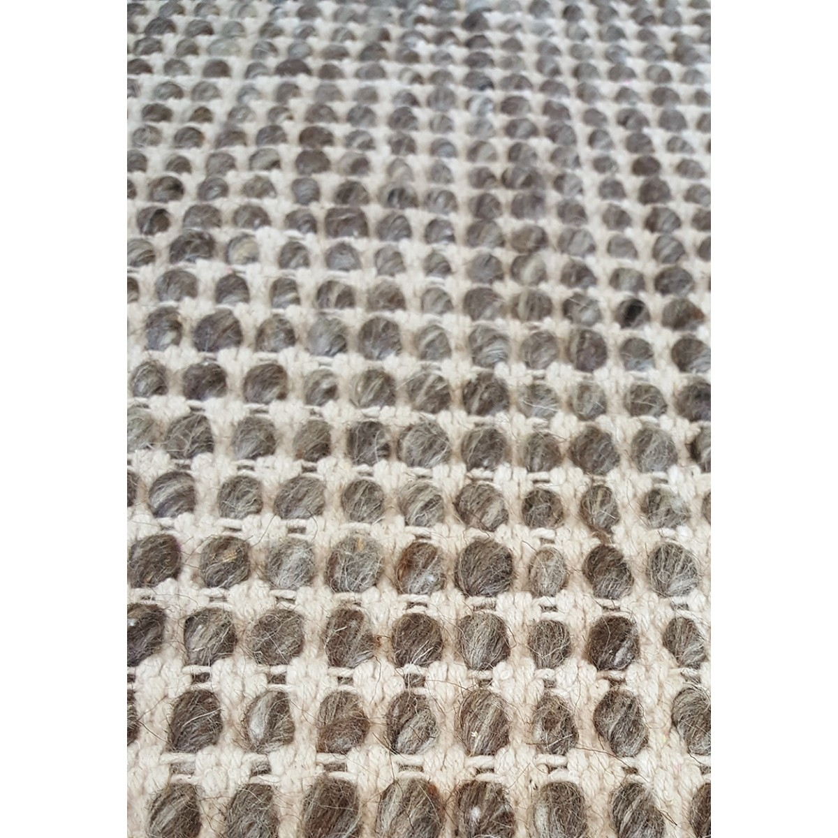 Voss Grey Brown Felted Wool Hand Knotted Rug Inside Knotted Wool Rugs (Image 13 of 15)