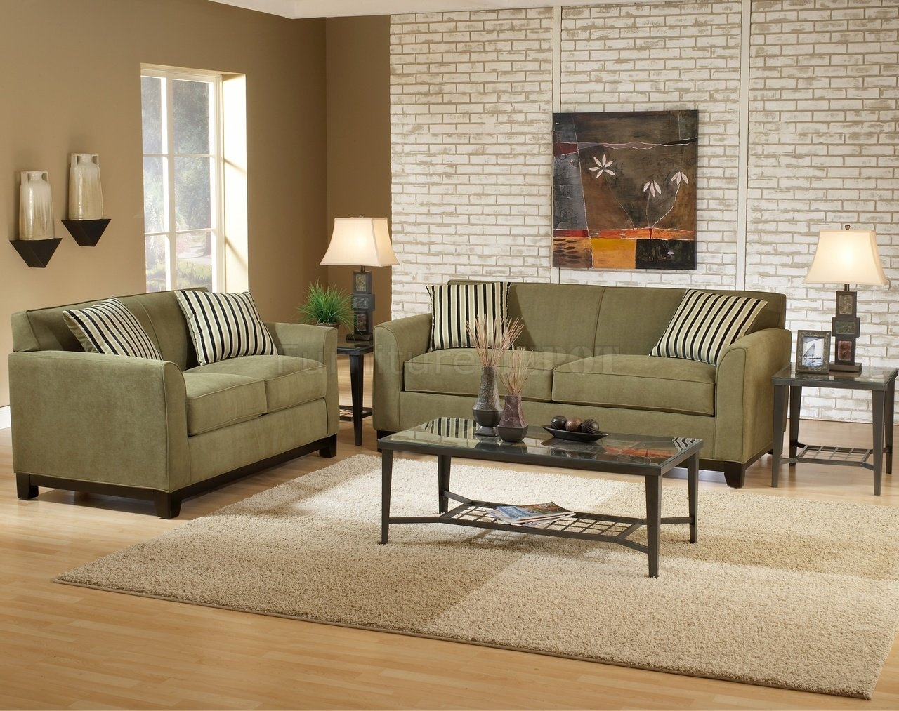 Wall Color For Sage Green Couch Sage Fabric Casual Modern Living Regarding Casual Sofas And Chairs (Image 15 of 15)
