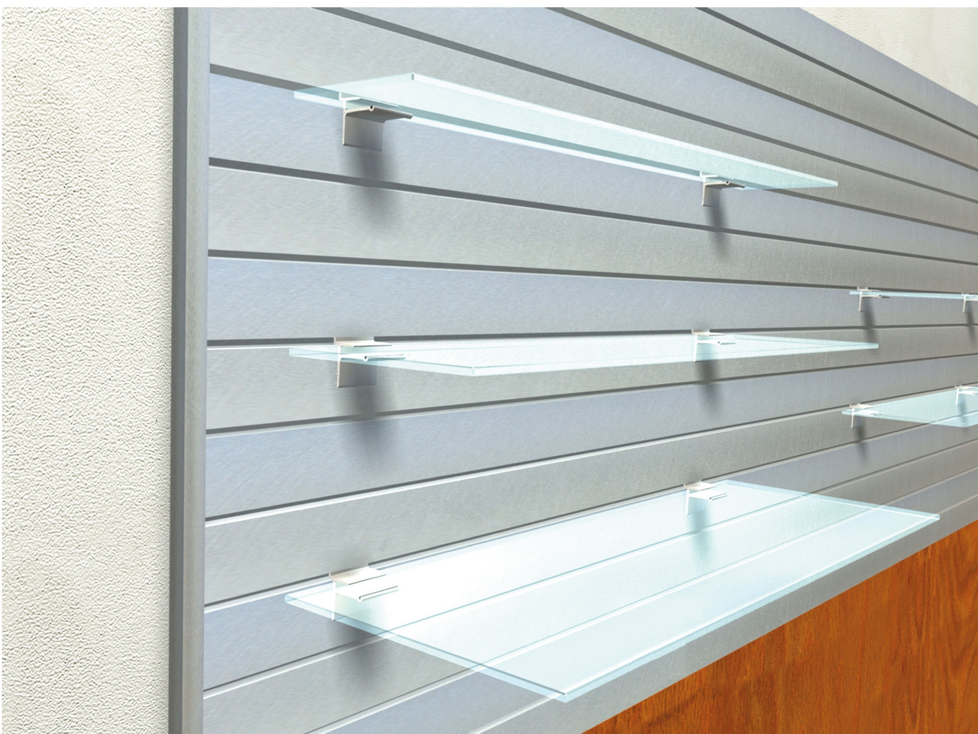 Wall Mounted Display Rack Glass For Shops Lamalu Sodem System With Wall Mounted Glass Display Shelves (Image 11 of 15)