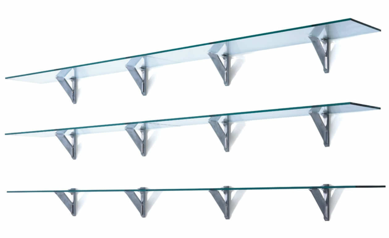 Wall Mounted Glass Shelves Cymun Designs Intended For Glass Wall Mount Shelves (View 3 of 15)