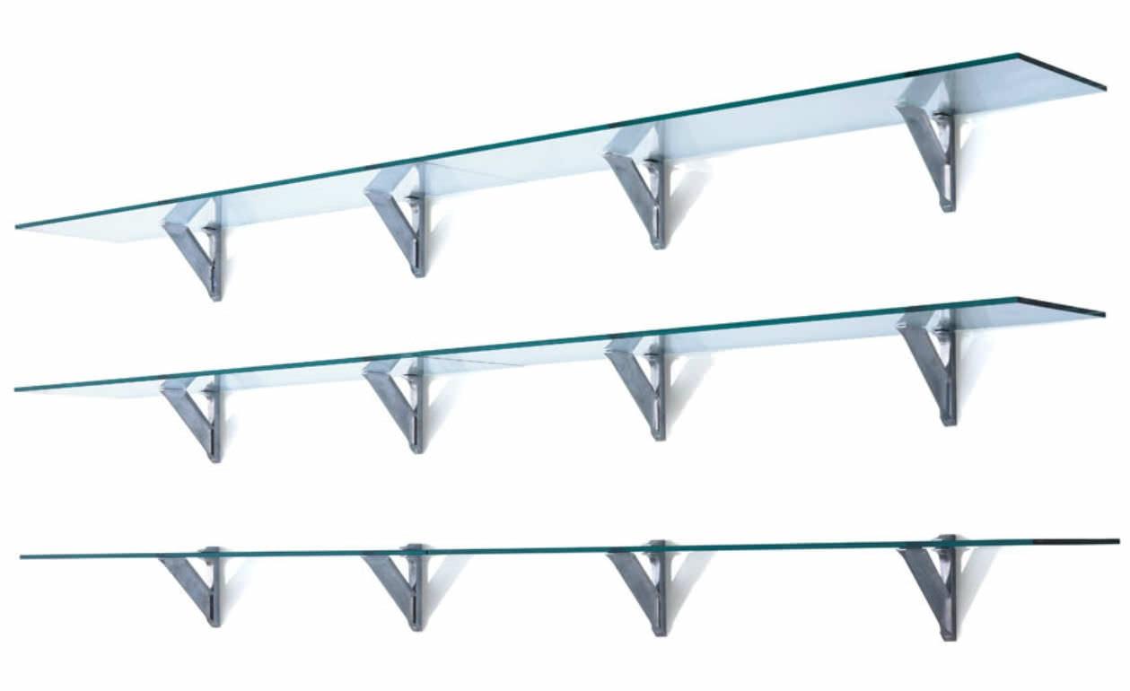 Wall Mounted Glass Shelves Cymun Designs Pertaining To Wall Mounted Glass Shelf (Image 11 of 15)