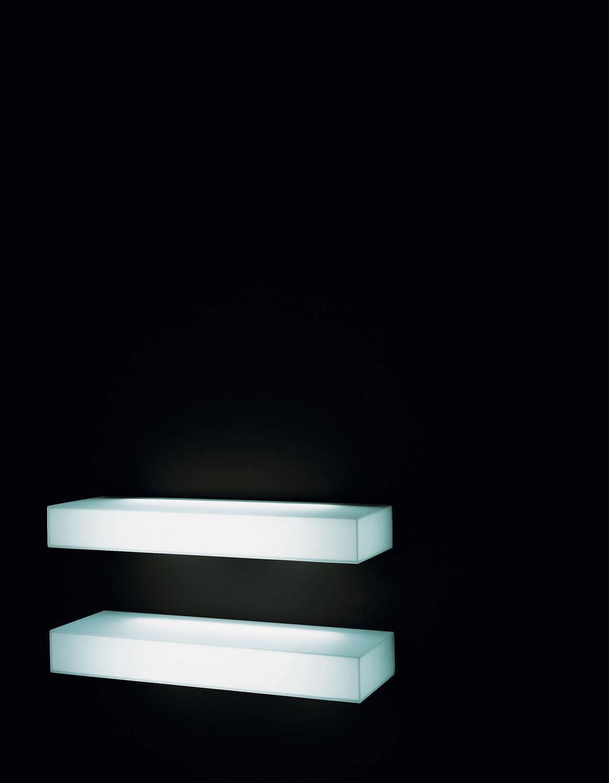 Wall Mounted Shelf Contemporary Glass Illuminated Light For Illuminated Glass Shelves (View 7 of 15)
