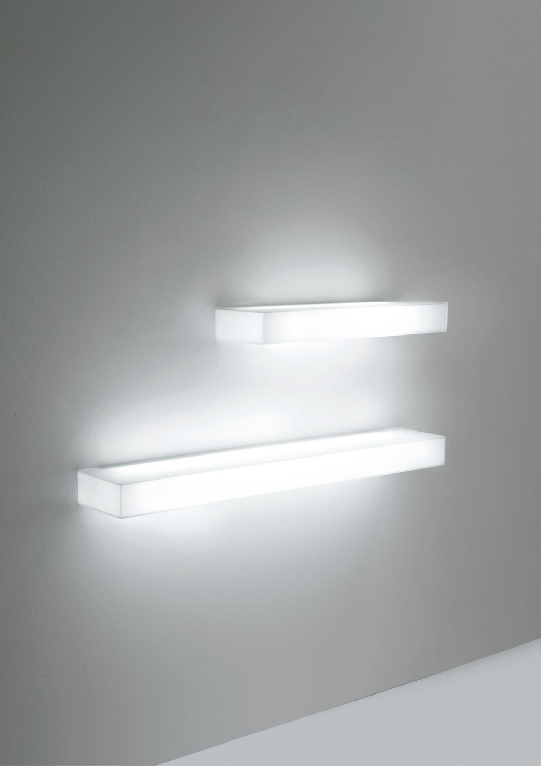 Wall Mounted Shelf Contemporary Glass Illuminated Light With Illuminated Glass Shelves (Image 14 of 15)