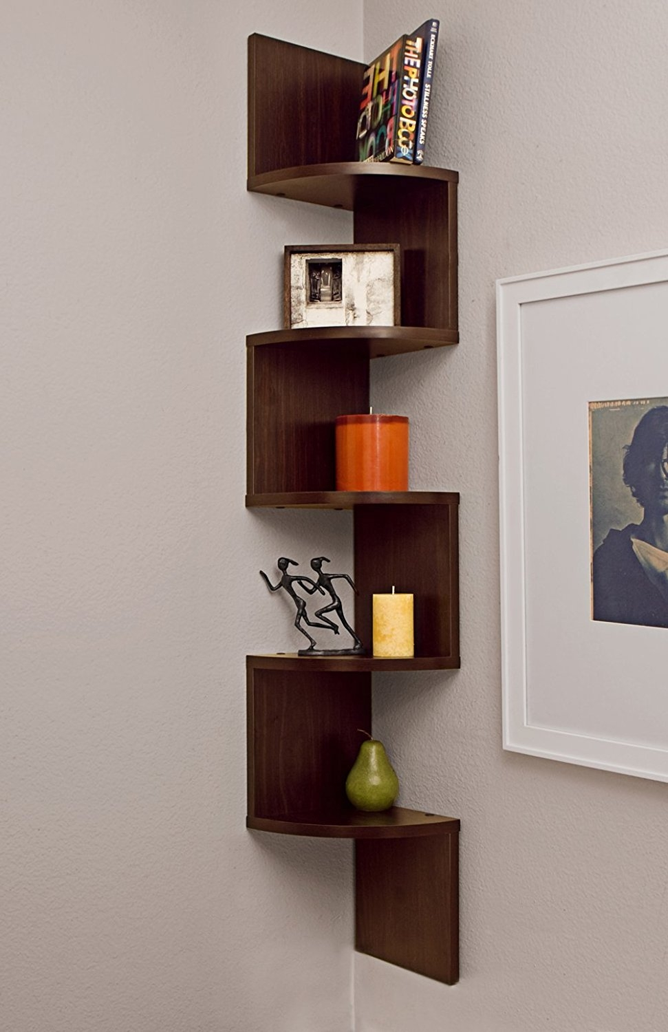 Wall Mounted Shelf Inside Corner Shelf For Dvd Player (Image 14 of 15)
