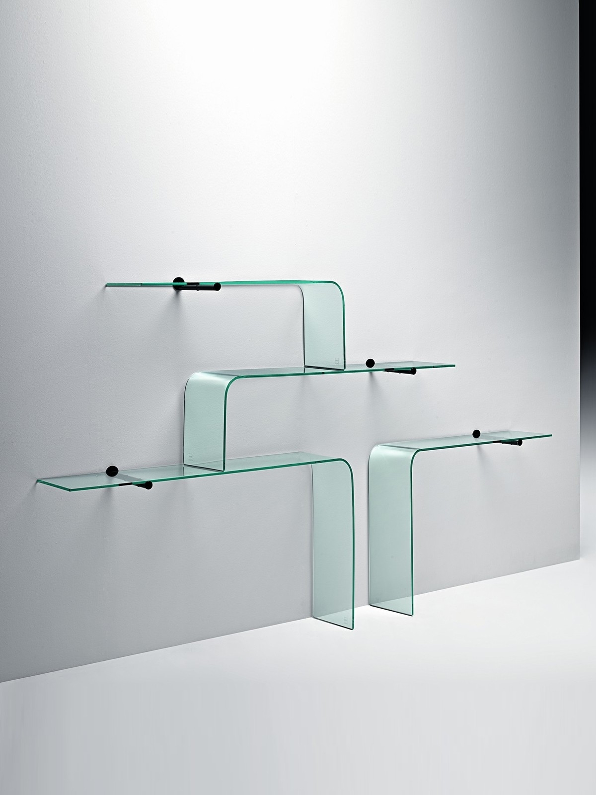 Wall Shelves Design Great Wall Mounted Glass Shelving Unit Small Throughout Glass Shelves (Image 14 of 15)