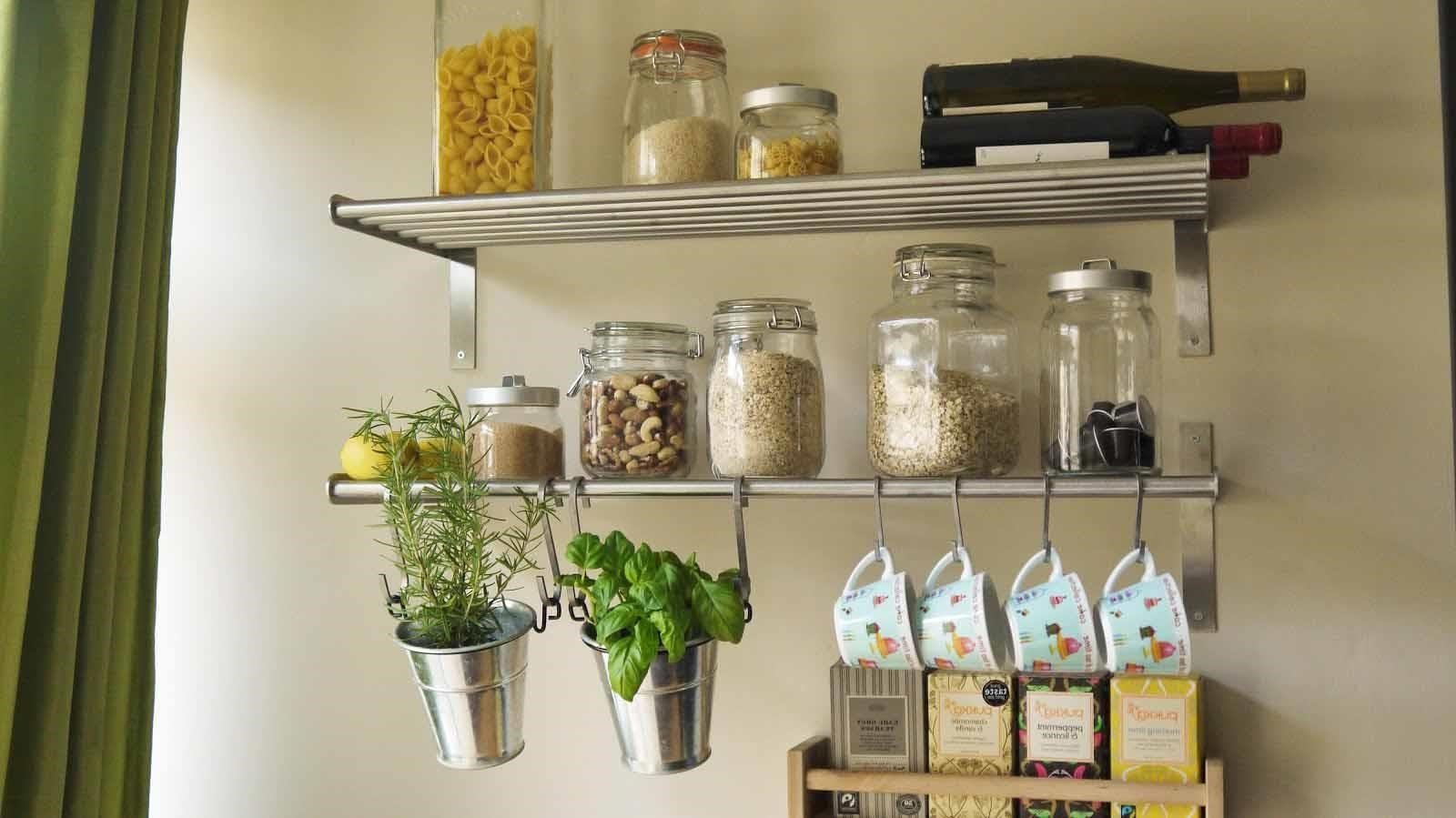Wall Shelves Design Metal Kitchen Wall Shelves Ideas Wall Metal For Kitchen Wall Shelves (Image 15 of 15)