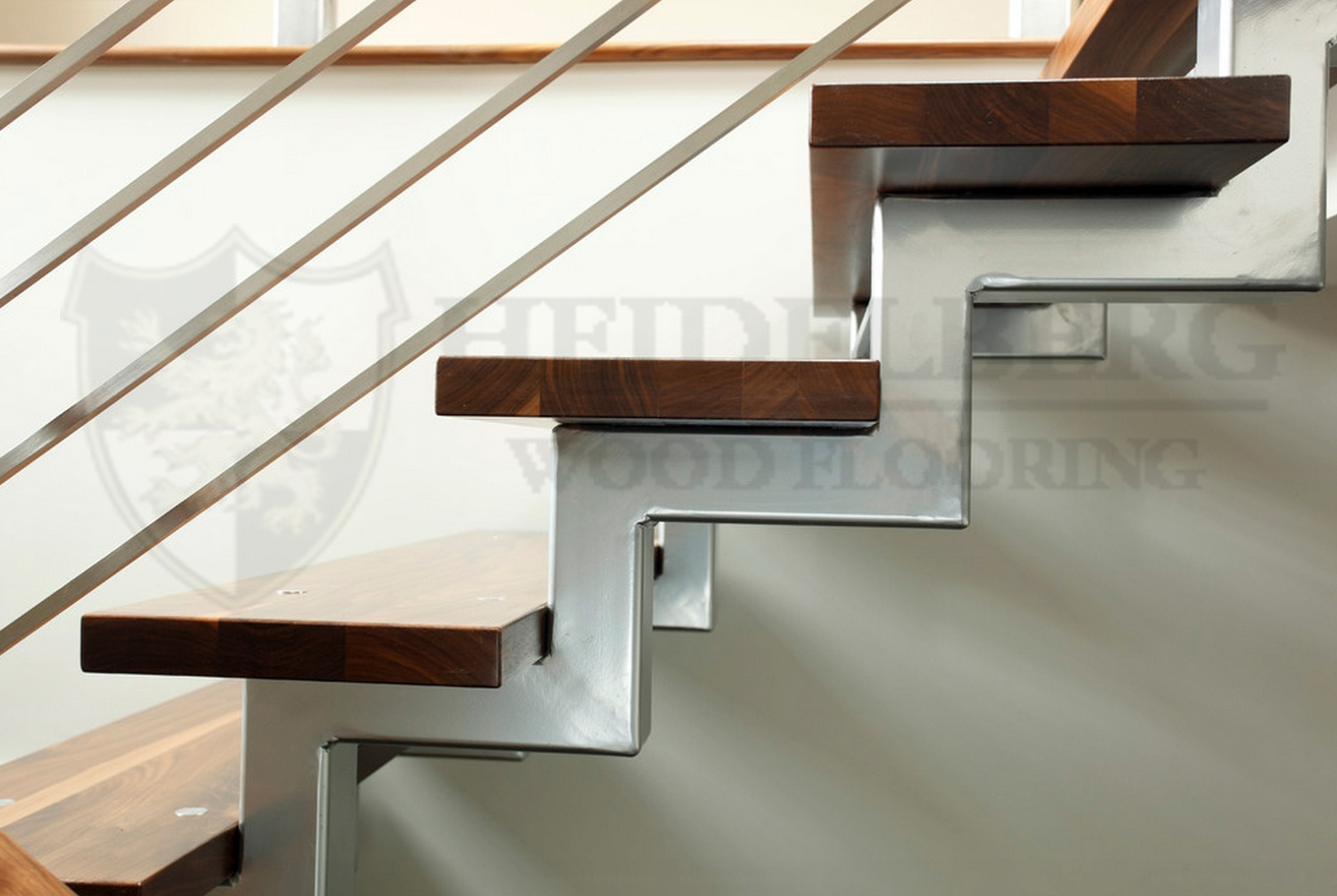 Walnut Grading In Contemporary Stair Treads (Image 15 of 15)