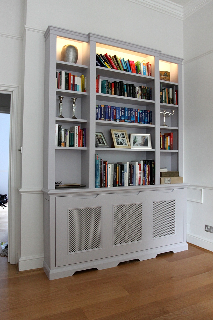 Wardrobe Company Floating Shelves Boockcase Cupboards Fitted Inside Radiator Bookcase Cabinets (Image 14 of 15)