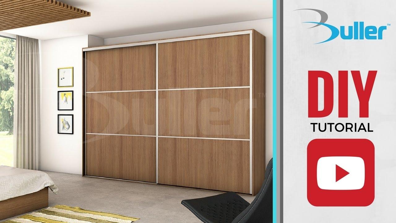 Wardrobe Sliding Door Track For Diy Youtube In Cupboard Sliding Doors (Image 23 of 25)