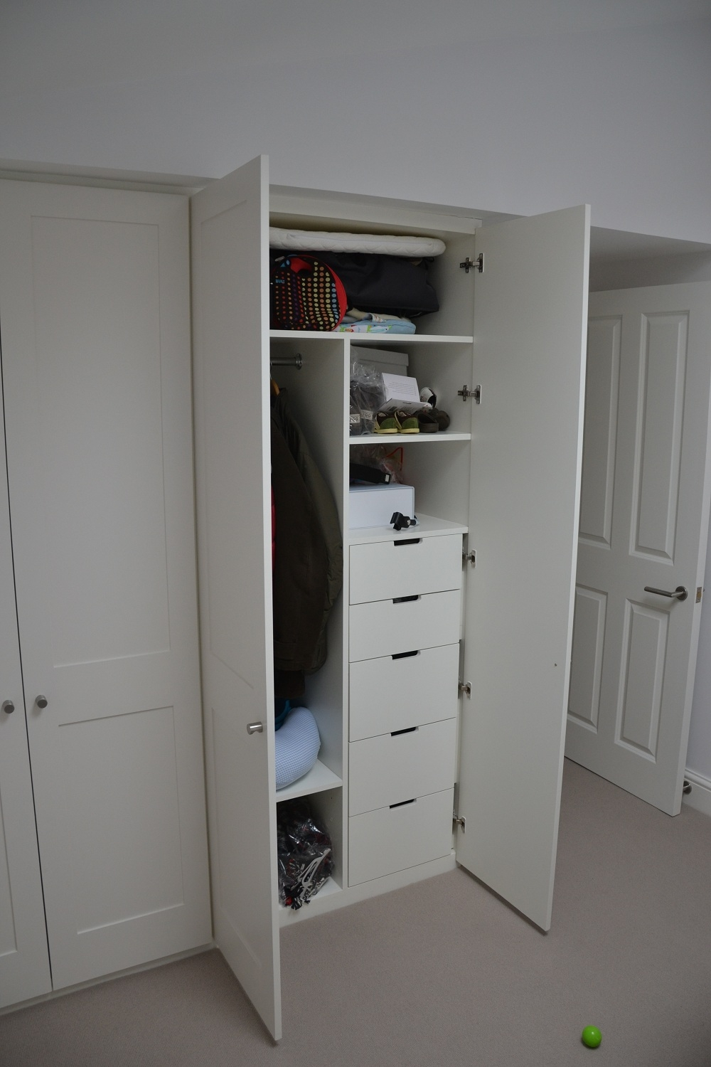 Wardrobe With Drawers White Organize And Decorate Everything Throughout Wardrobe With Drawers And Shelves (Image 13 of 15)