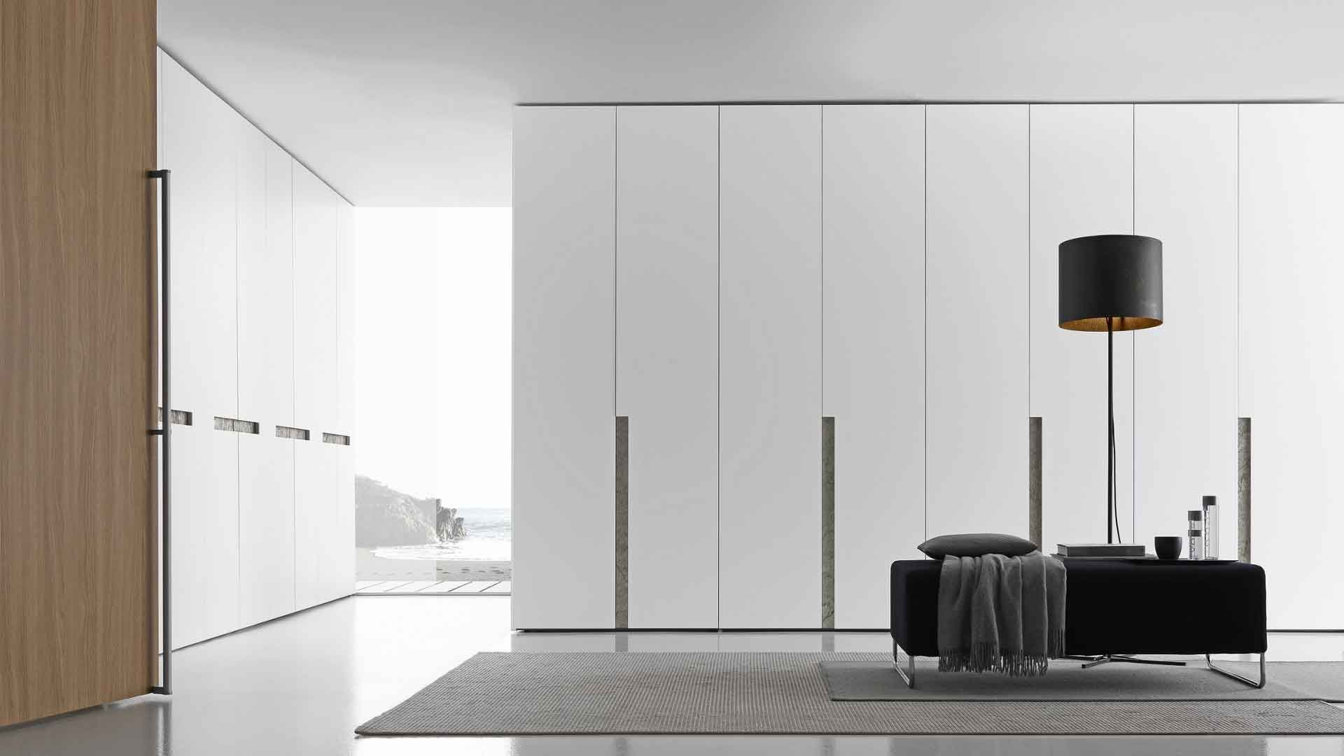 Wardrobe With Matt Bianco Candido Lacquered Alibi Swing Doors And With Regard To Cupboard Inserts For Wardrobes (Image 23 of 25)