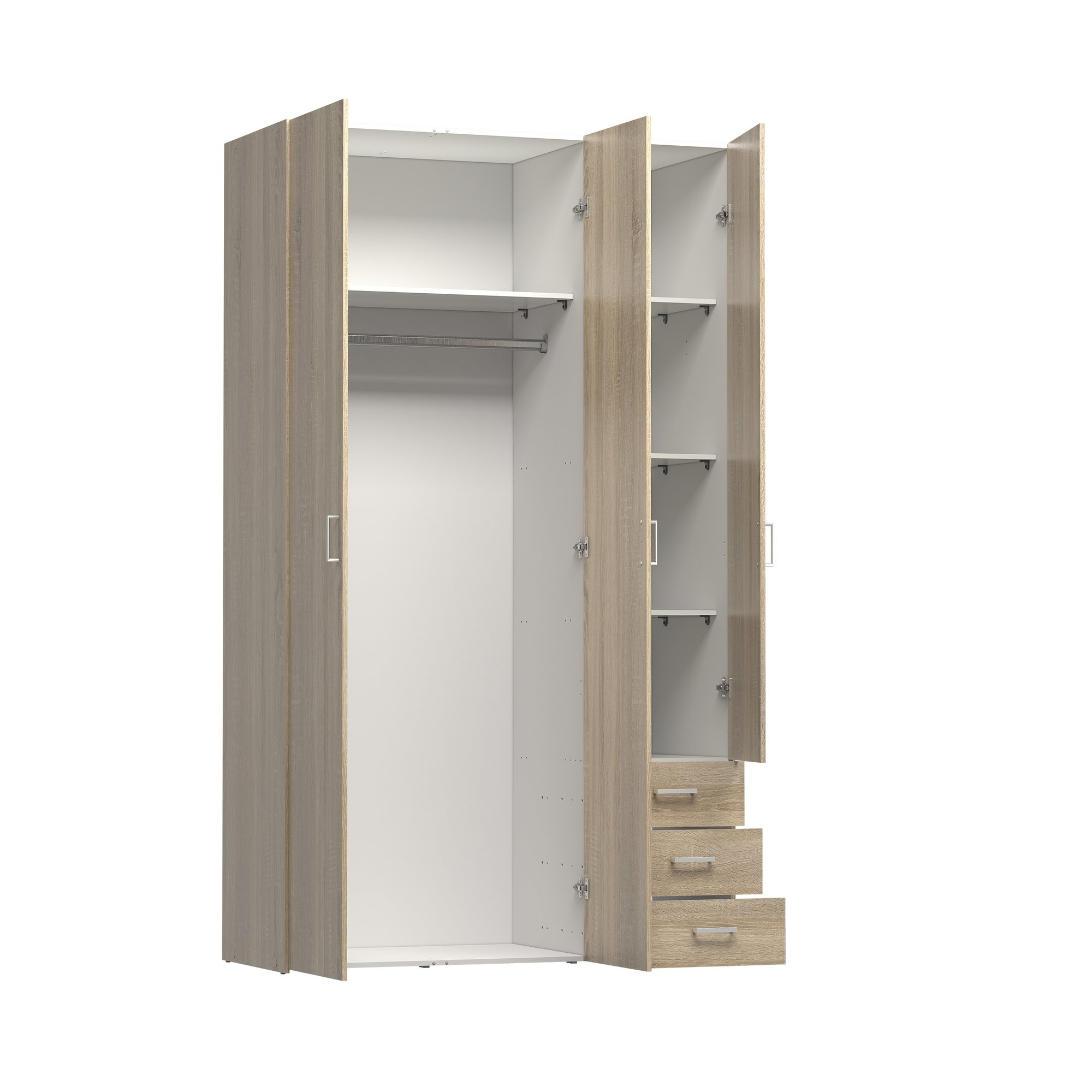Wardrobe With Shelves And Drawers Best Drawer Model Throughout Wardrobe With Shelves And Drawers (View 5 of 15)
