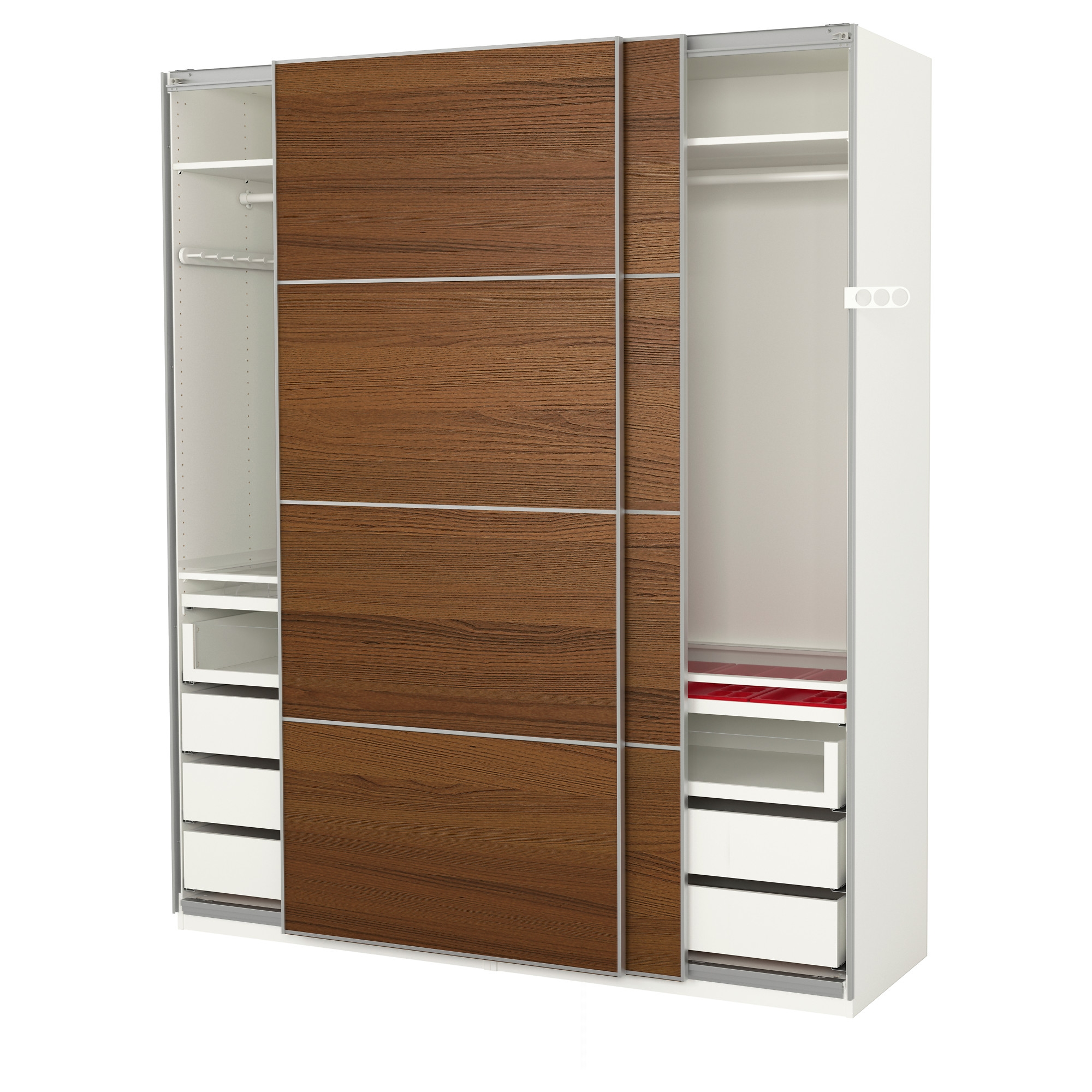 Wardrobes Pax System Ikea Inside Wardrobe With Shelves And Drawers (View 12 of 15)