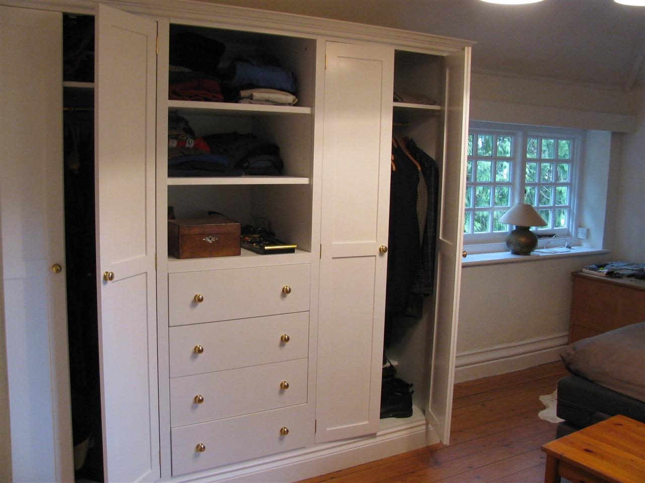 Wardrobes Regarding Wardrobe With Shelves And Drawers (Image 14 of 15)