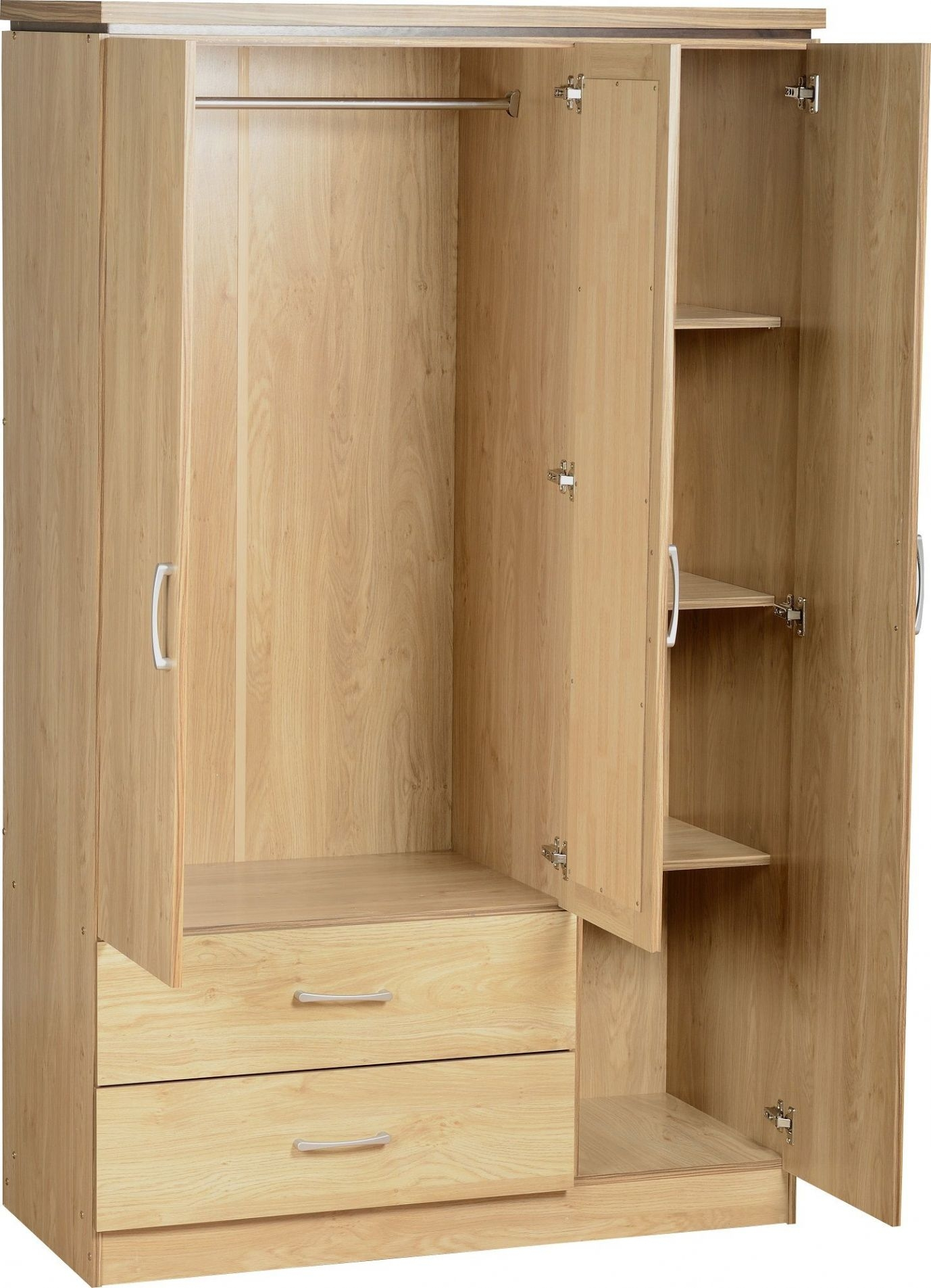 Wardrobes With Shelves Door Mirror Wardrobe With Shelves Mirror Regarding Wardrobe With Shelves And Drawers (Image 15 of 15)