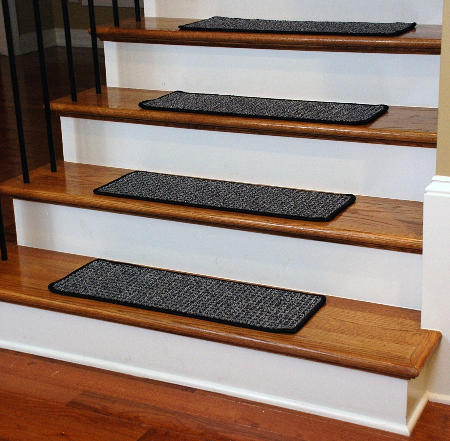 Washable Non Skid Carpet Stair Treads Silvered Sky 13 Within Carpet Stair Treads Non Slip (Image 15 of 15)