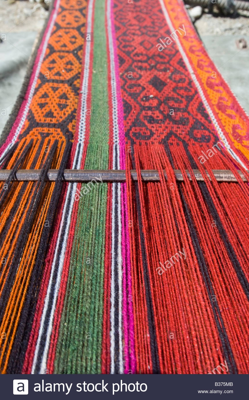 Weaving Handmade Rugs For Their Yurt In Jalang Village In The In Handmade Rugs (Image 15 of 15)
