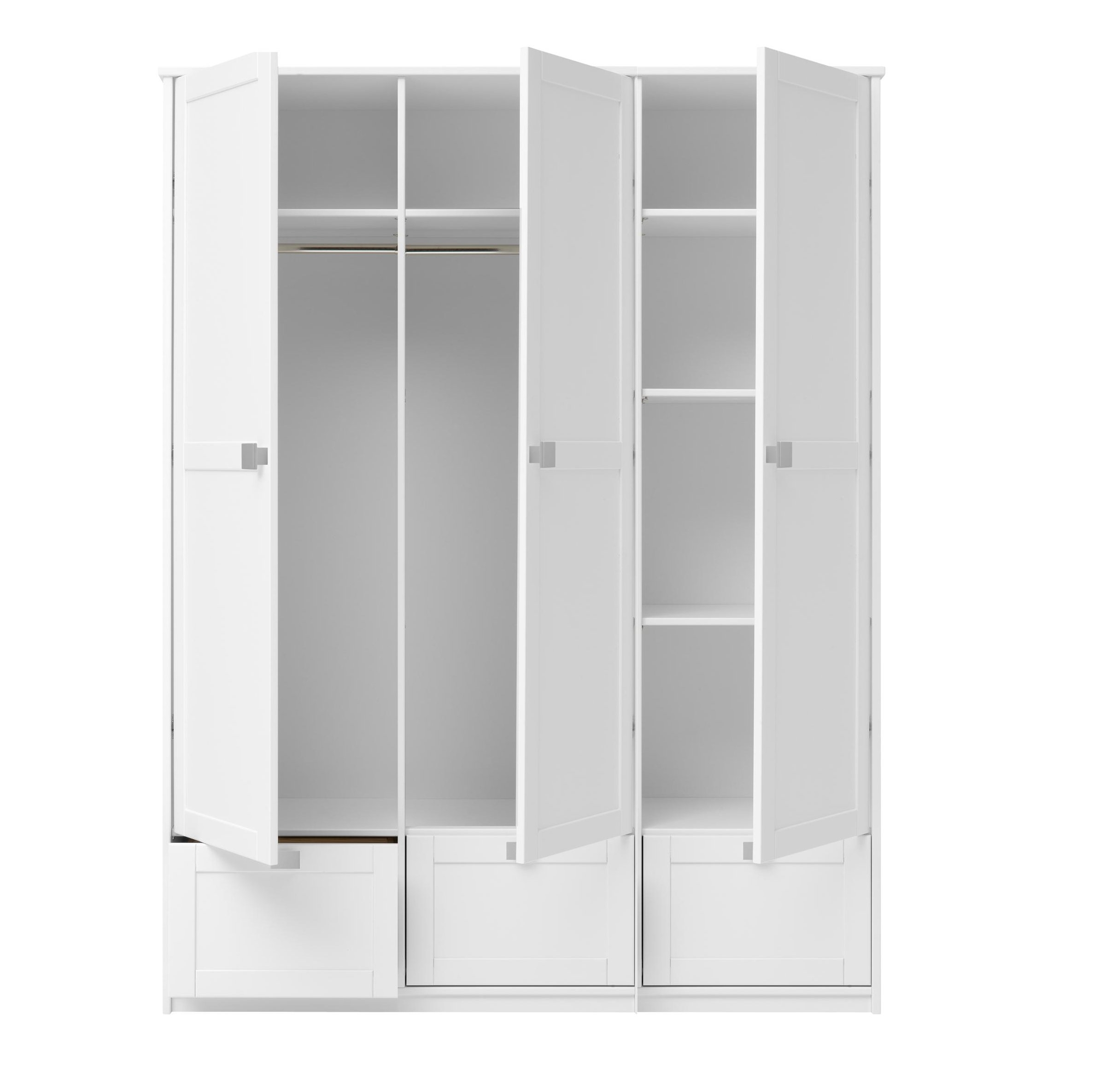 White 3 Door Wardrobes Best Wardrobe 2017 Within 3 Door White Wardrobes (Image 24 of 25)